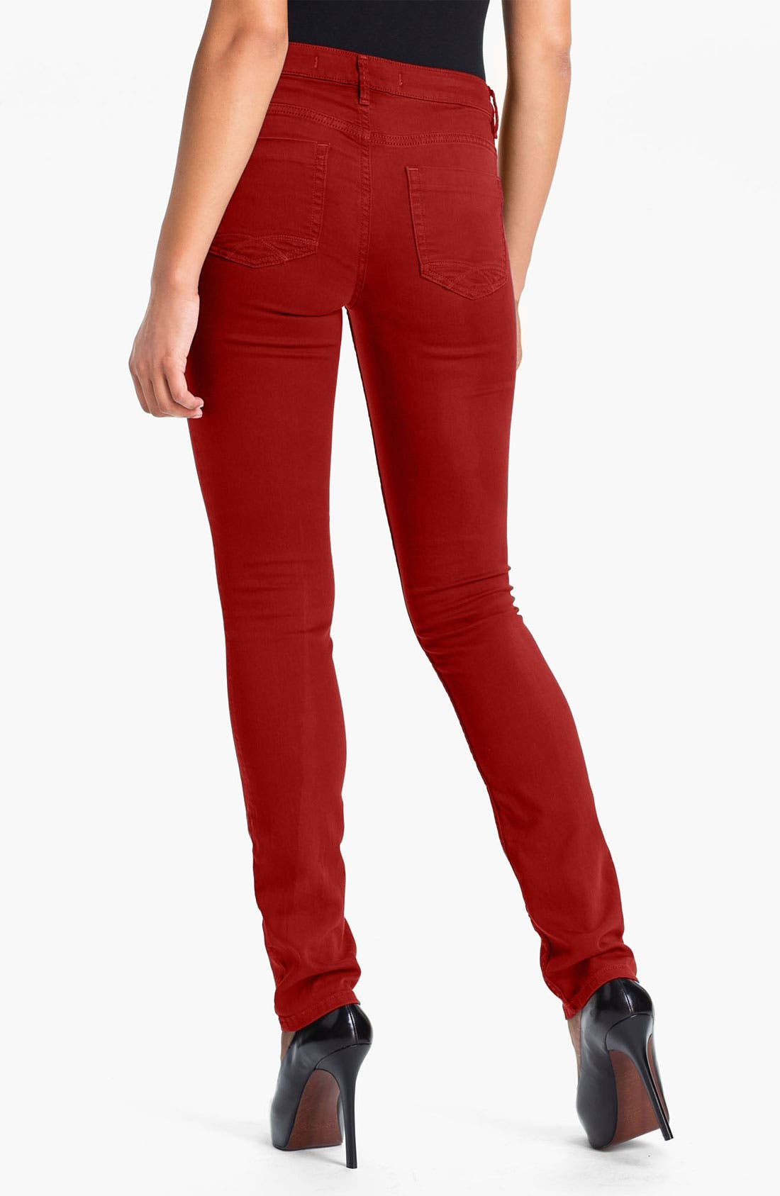 Alternate Image 2  - Christopher Blue 'Sophia' Twill Skinny Jeans