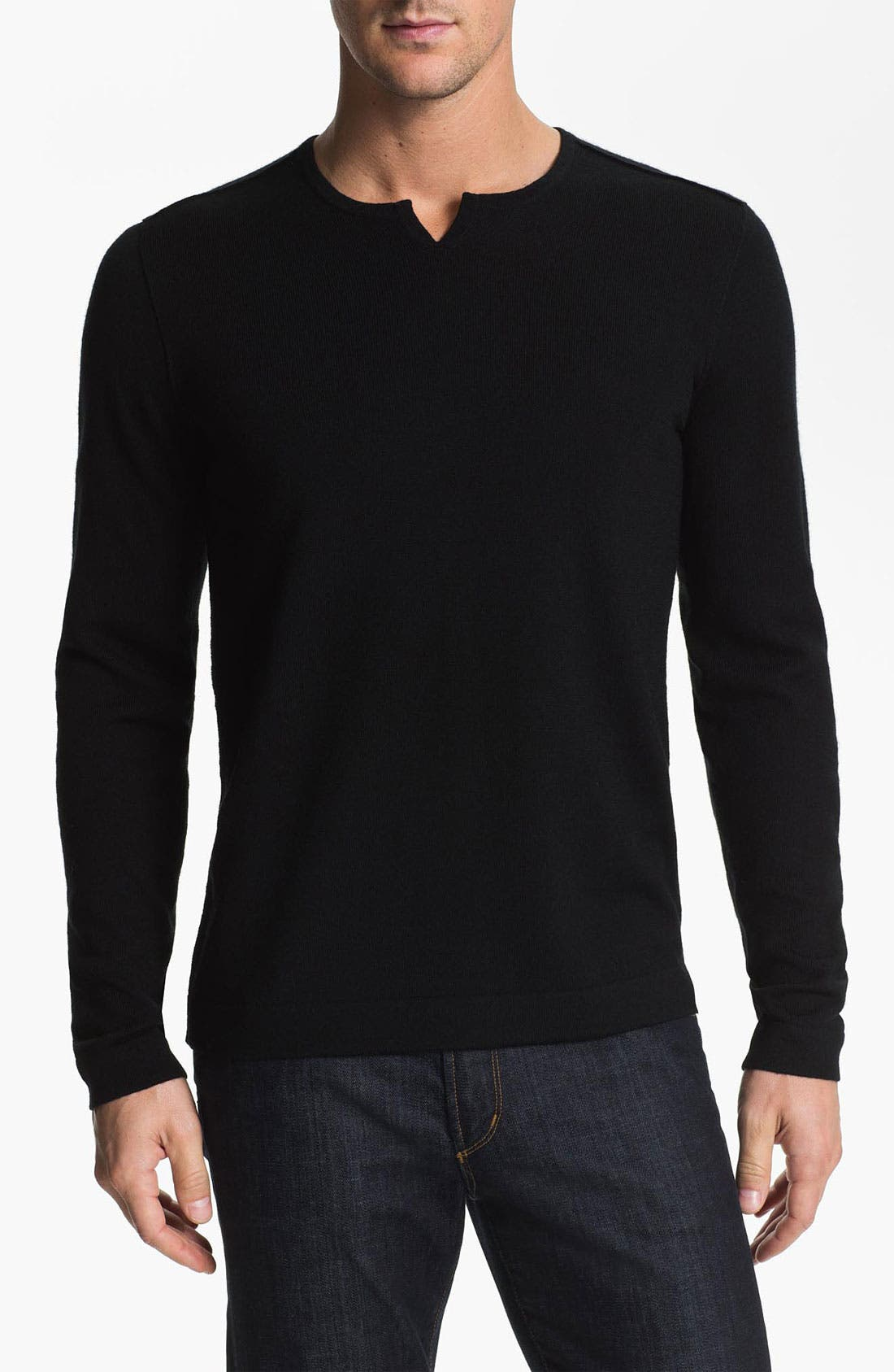 Main Image - John Varvatos Star USA Trim Fit Crewneck Sweater