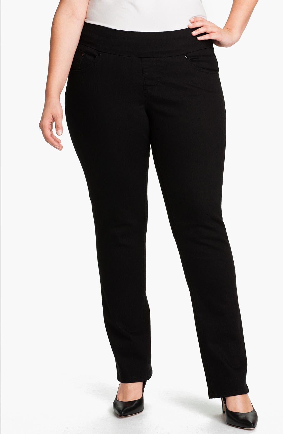 Alternate Image 1 Selected - Jag Jeans 'Tatum' Pull-On Straight Leg Jeans (Plus)