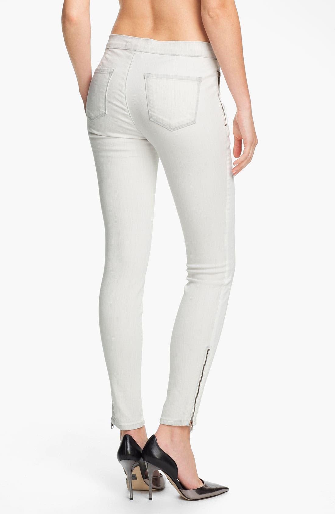 Alternate Image 2  - J Brand 'Kera' Tuxedo Stripe Skinny Jeans (Iceberg)