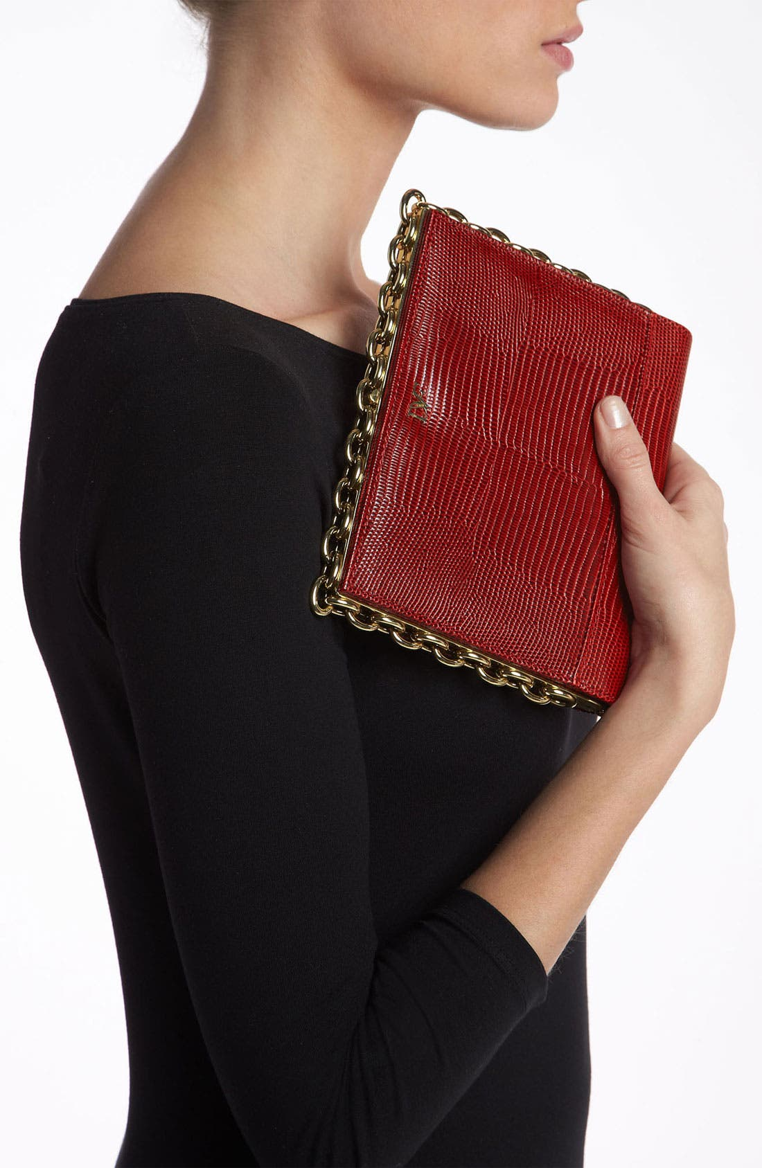 Alternate Image 2  - Diane von Furstenberg 'Catena' Lizard Embossed Clutch