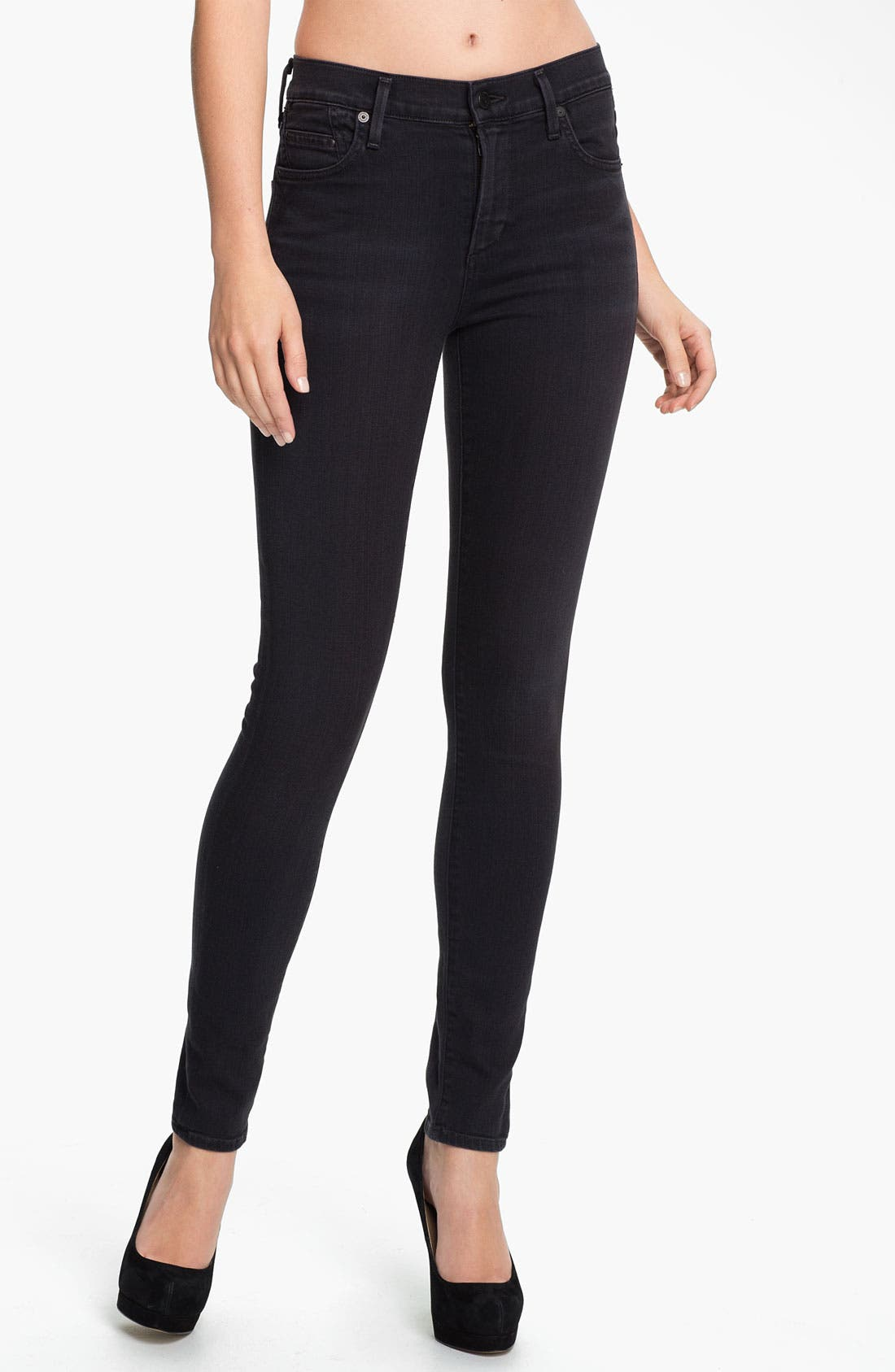Alternate Image 1 Selected - Citizens of Humanity 'Rocket' High Rise Skinny Jeans (Goth)