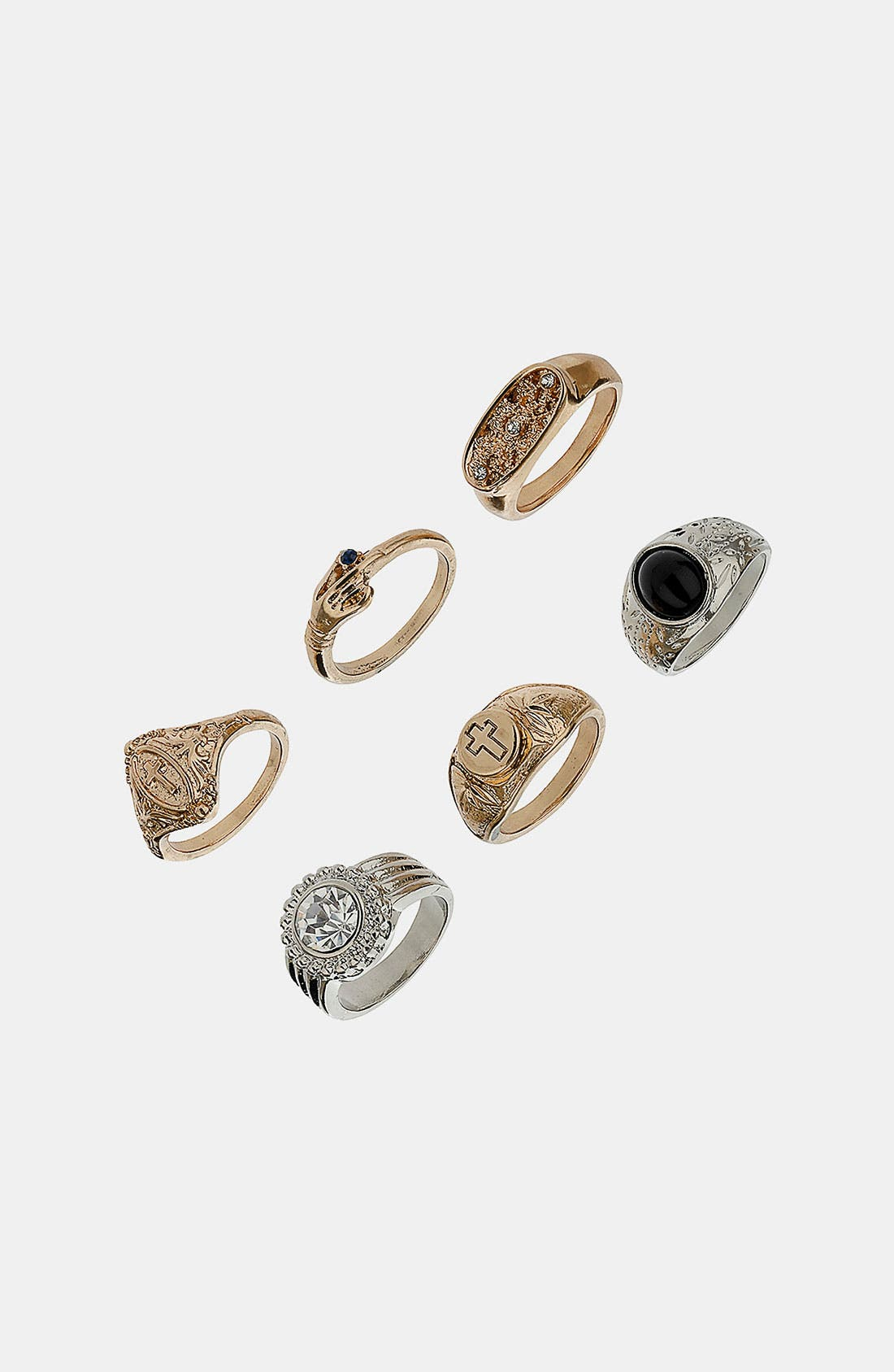 Alternate Image 1 Selected - Topshop 'Rococo' Rings (Set of 6)