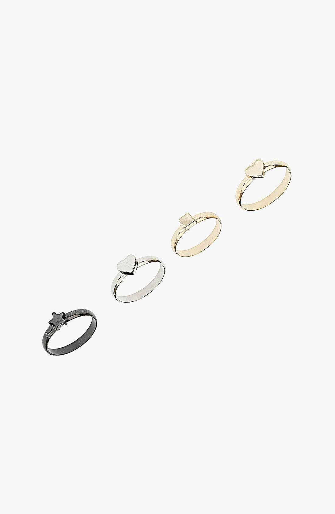 Alternate Image 1 Selected - Topshop 'Dainty Mix' Rings (Set of 4)