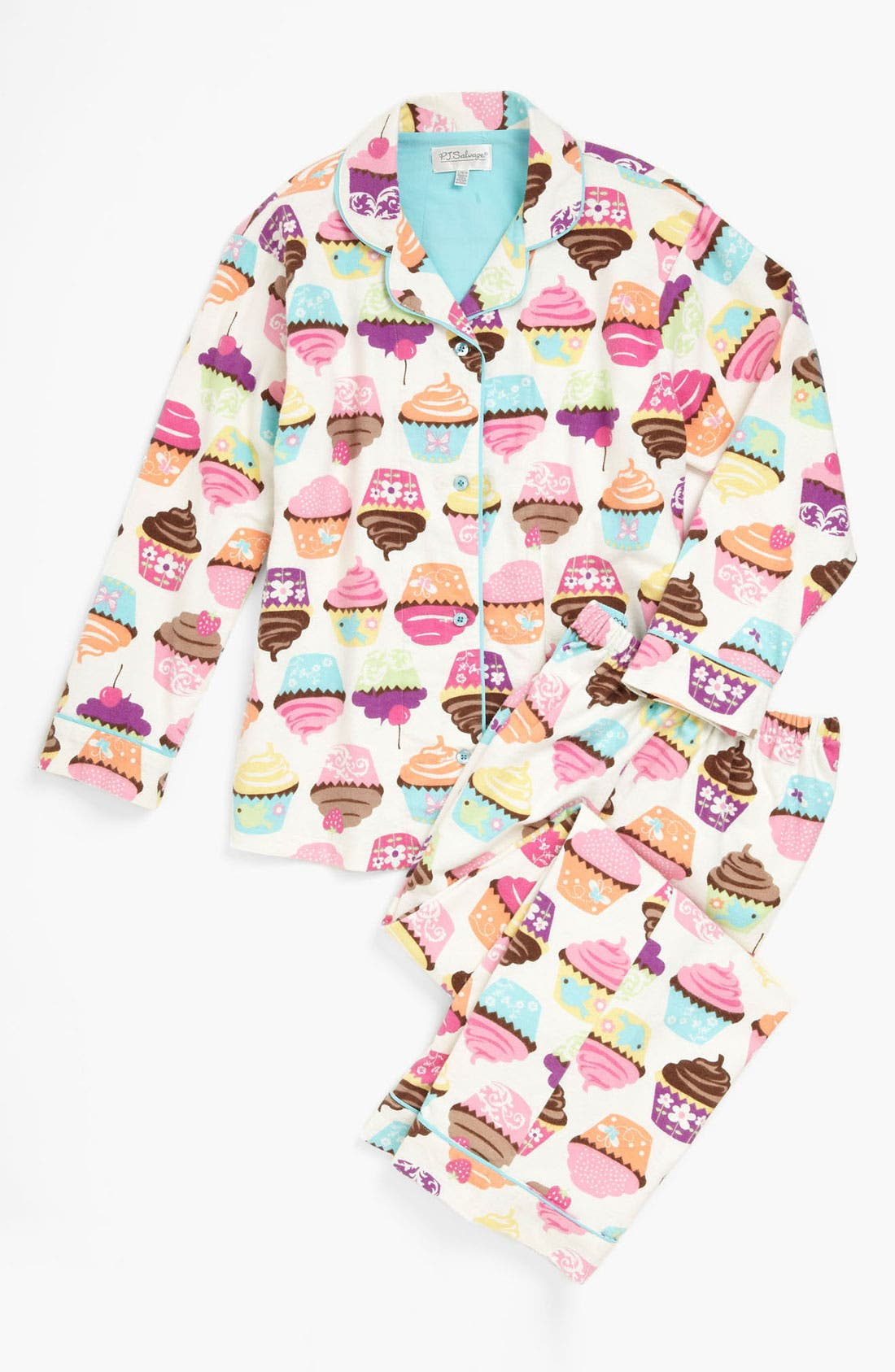 Alternate Image 1 Selected - PJ Salvage Pajama Set (Little Girls & Big Girls)