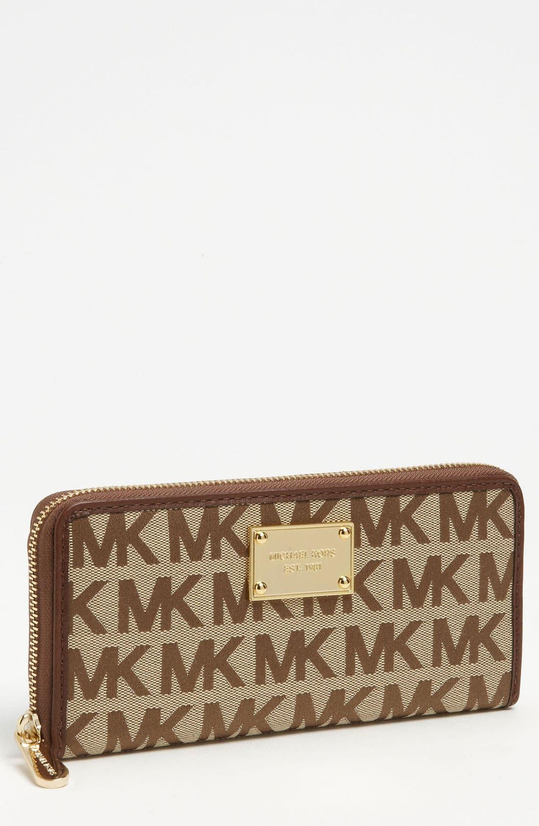 Alternate Image 1 Selected - MICHAEL Michael Kors Monogram Jacquard Wallet