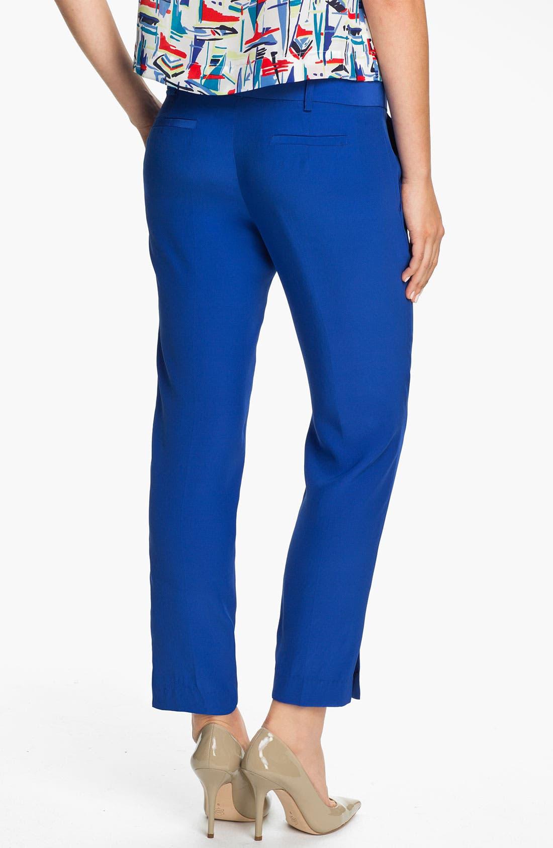 Alternate Image 2  - Milly 'Nicole' Silk Pants