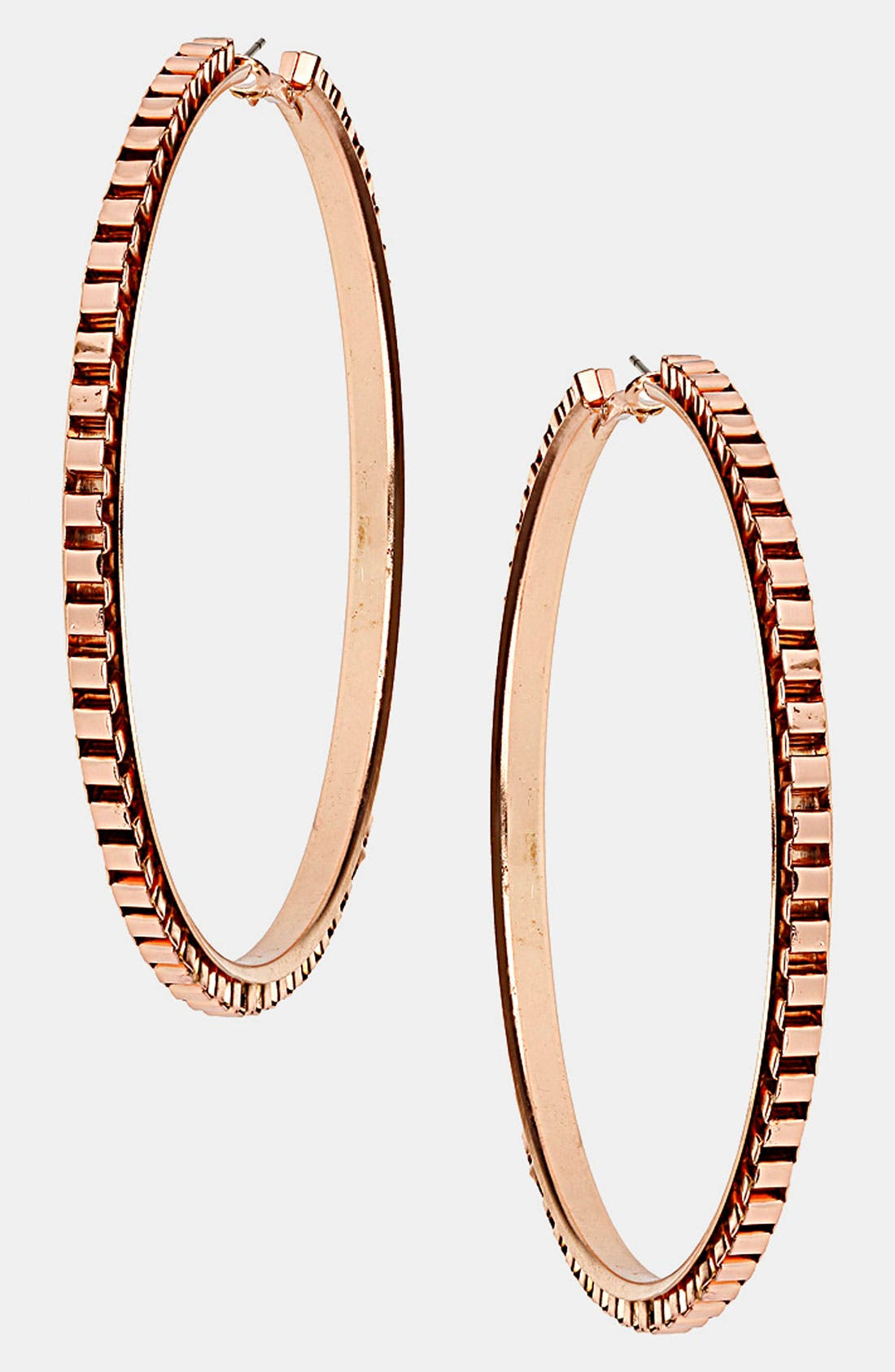Main Image - Topshop Box Chain Hoop Earrings