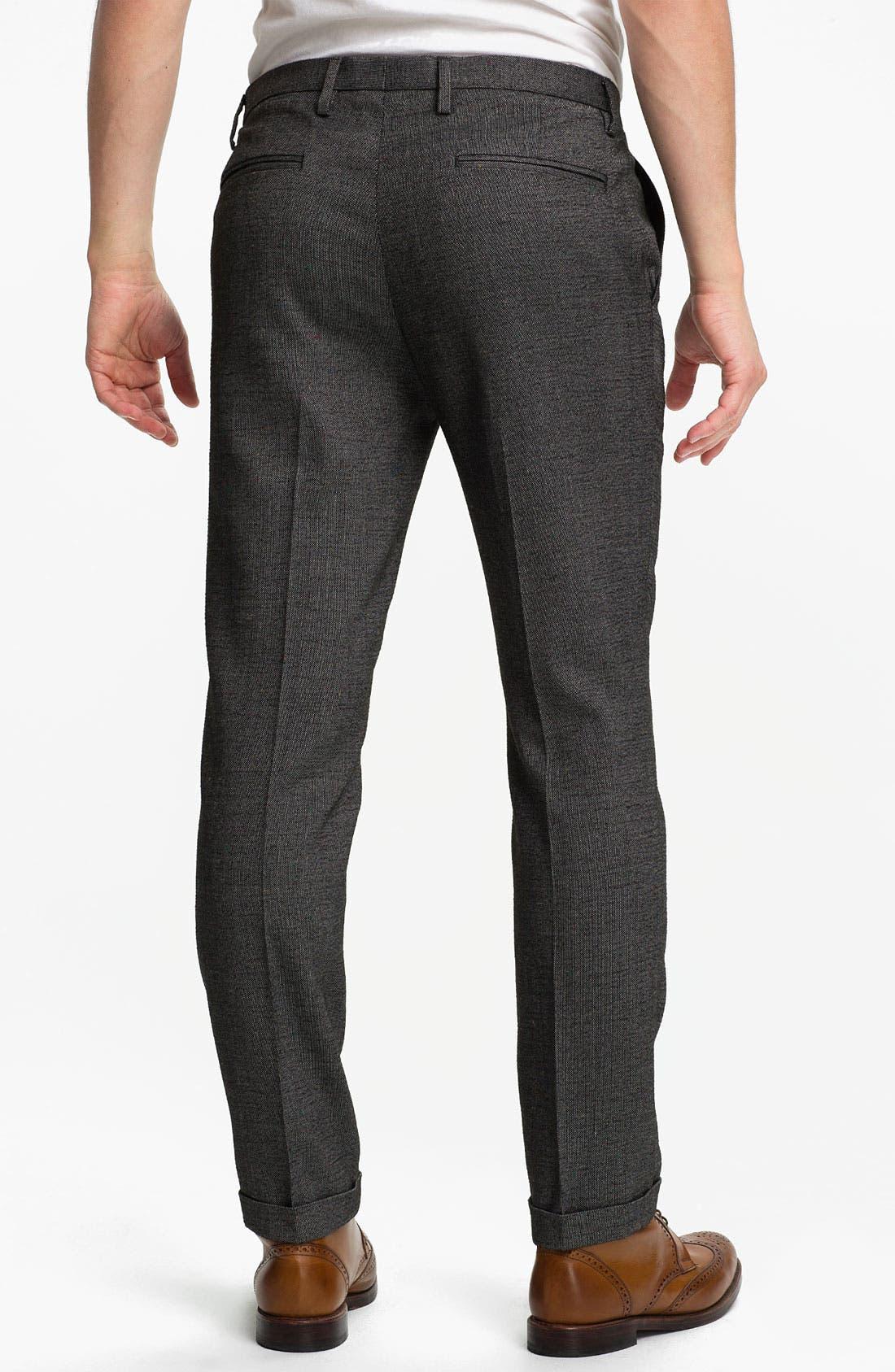 Alternate Image 2  - Topman Fleck Skinny Fit Trousers
