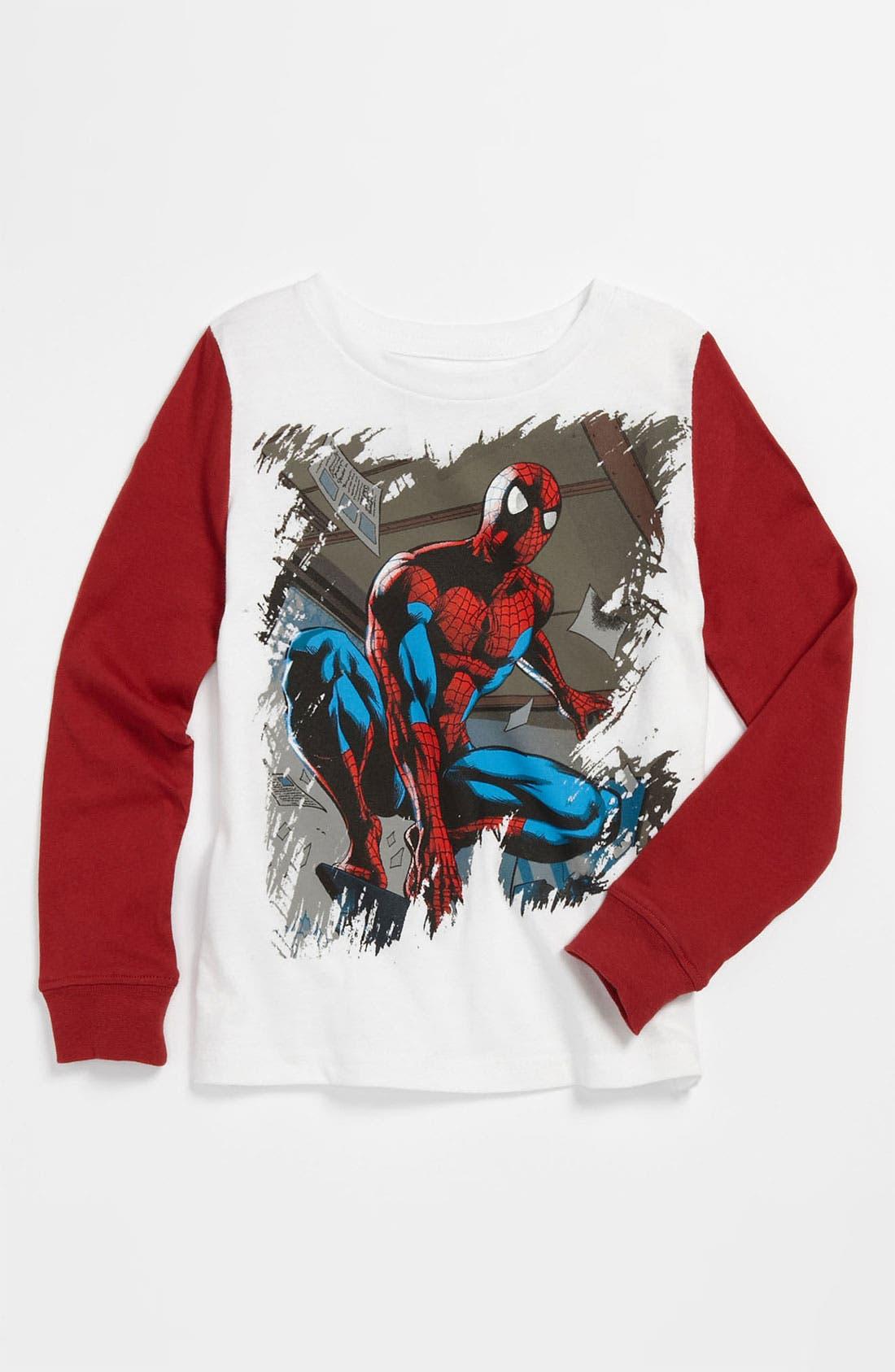 Alternate Image 1 Selected - Jem ''Marvel® Spidey Stance' T-Shirt (Toddler)