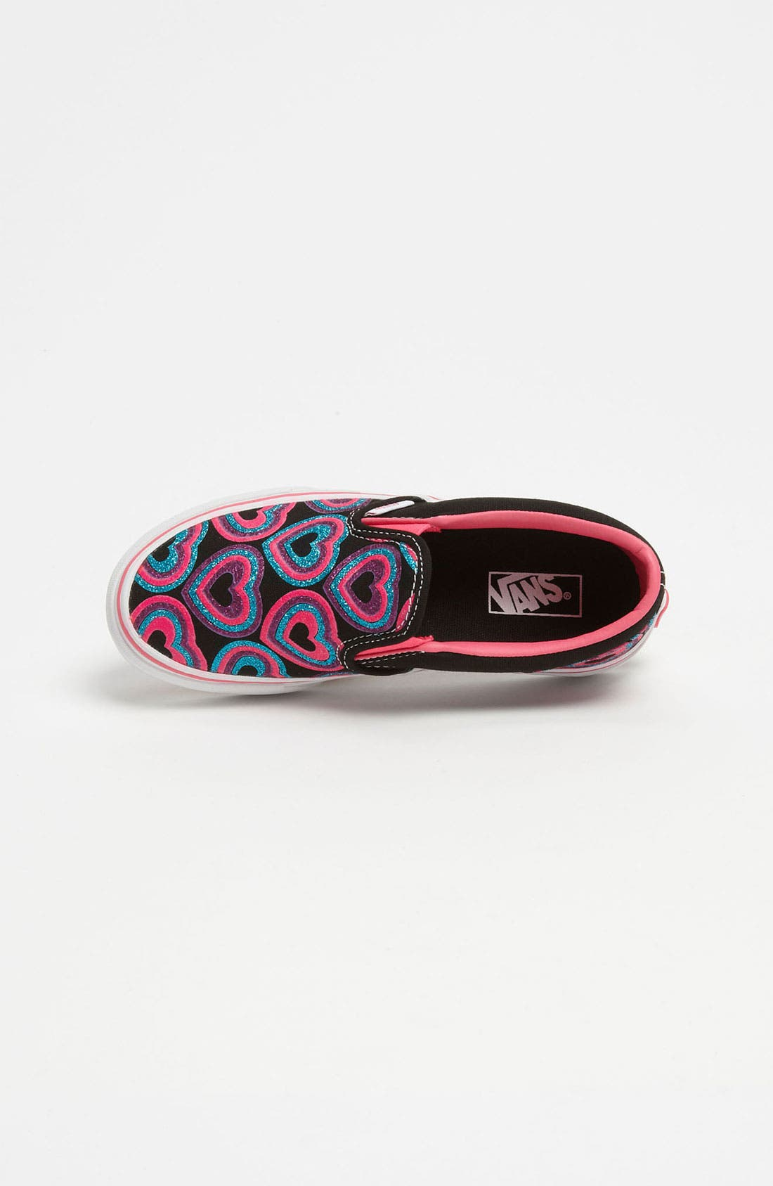 Alternate Image 3  - Vans 'Classic - Glitter Hearts' Slip-On (Toddler, Little Kid & Big Kid)
