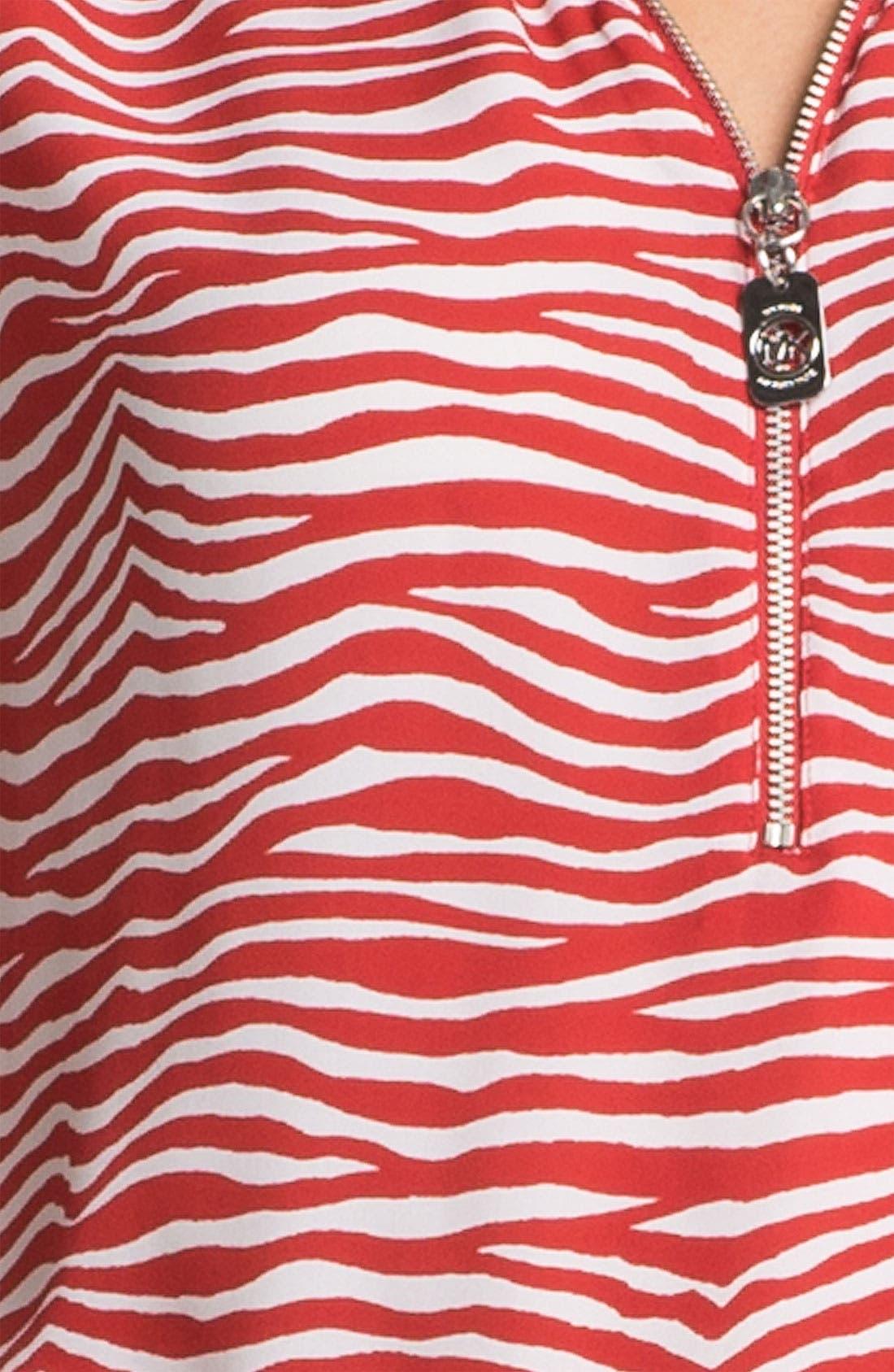 Alternate Image 4  - MICHAEL Michael Kors Zip Neck Top