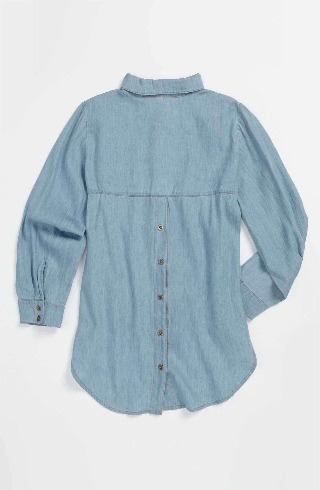 Alternate Image 2  - Mia Chica Chambray Shirt (Big Girls)