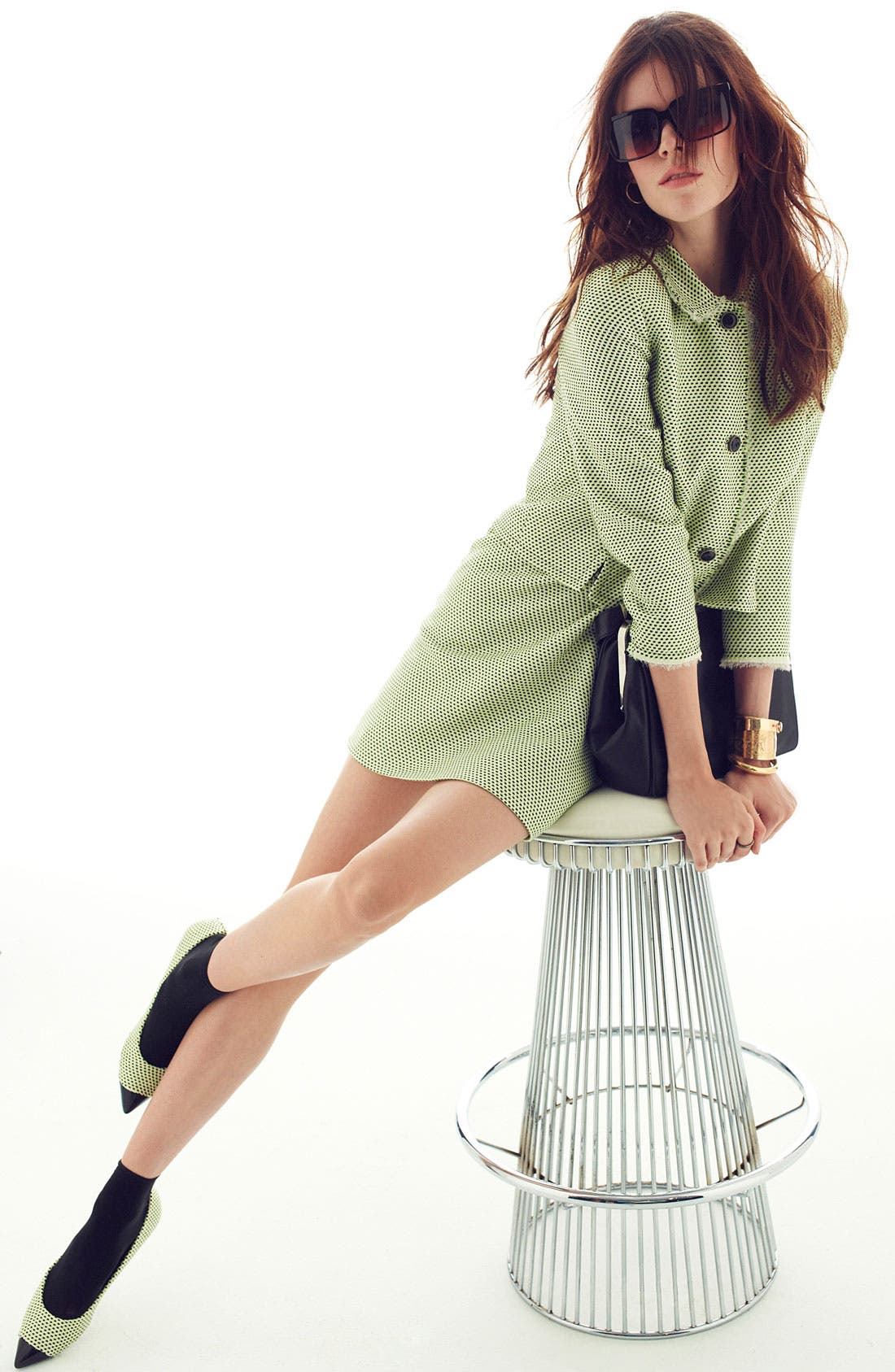 Main Image - Miss Wu Modern Weave Jacket & Dress (Nordstrom Exclusive)