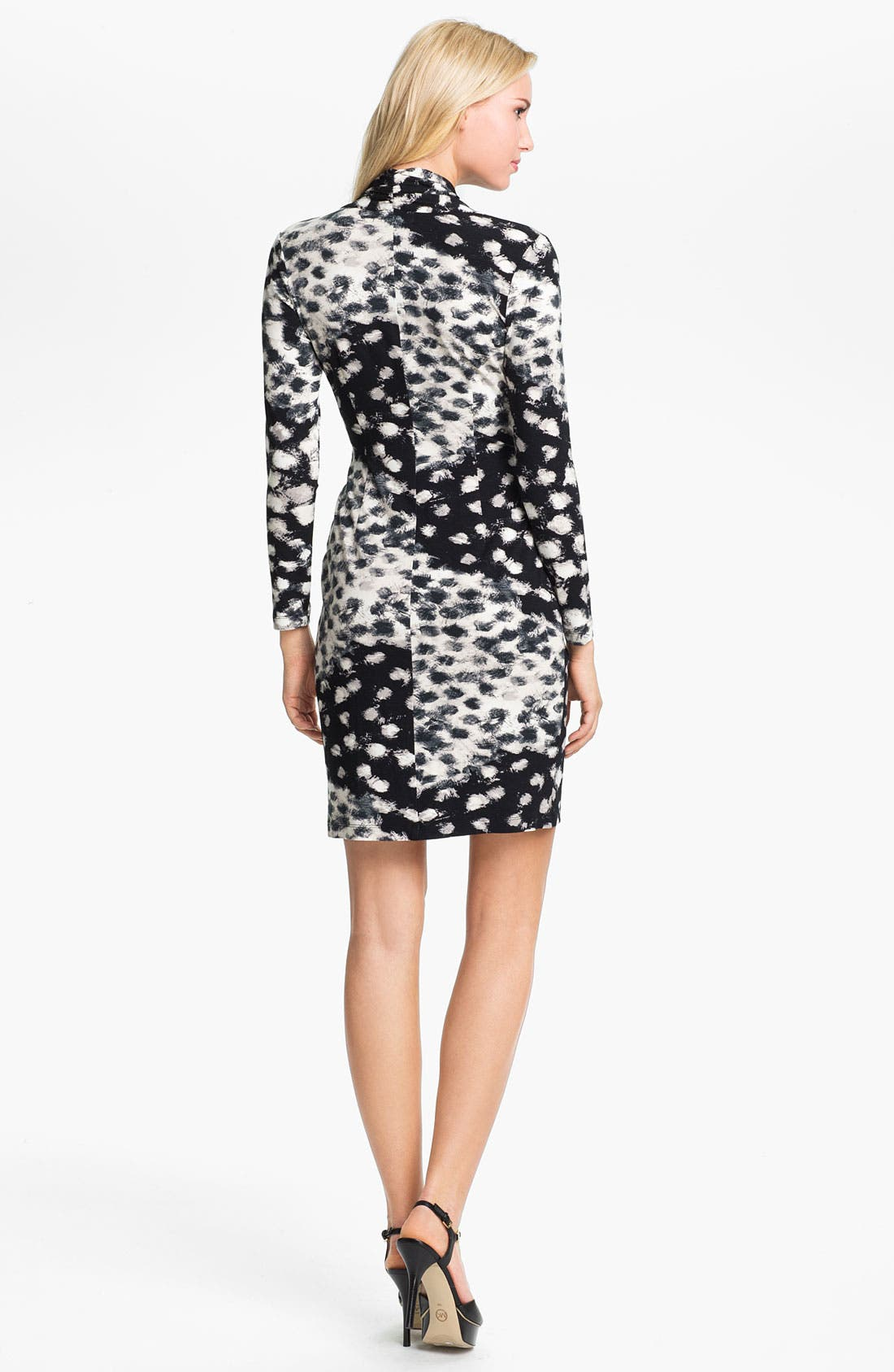 Alternate Image 2  - Karen Kane Shirred Faux Wrap Dress (Online Exclusive)