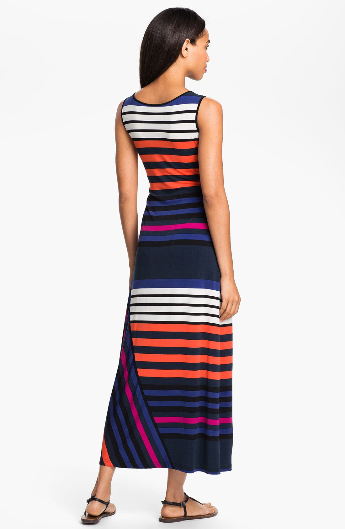 Alternate Image 2  - Calvin Klein Multi Stripe Tank Maxi Dress