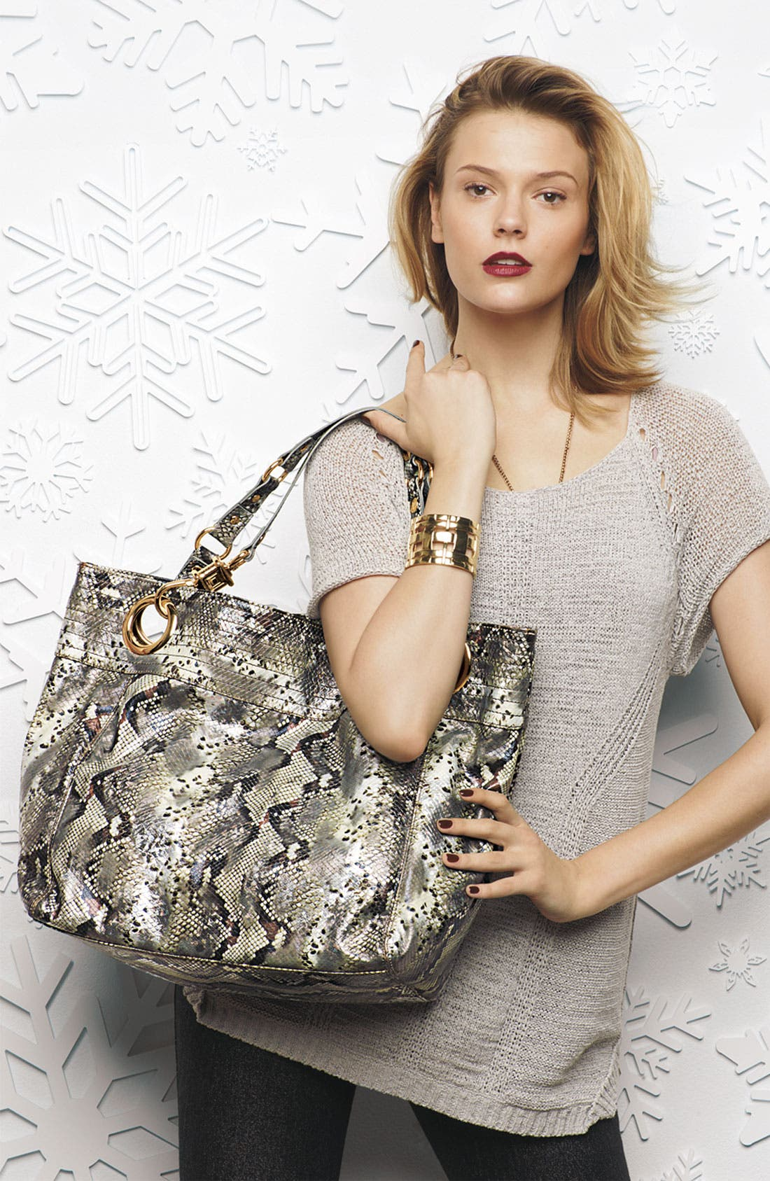 Alternate Image 5  - Steven by Steve Madden 'Candy Coated' Snake Embossed Tote