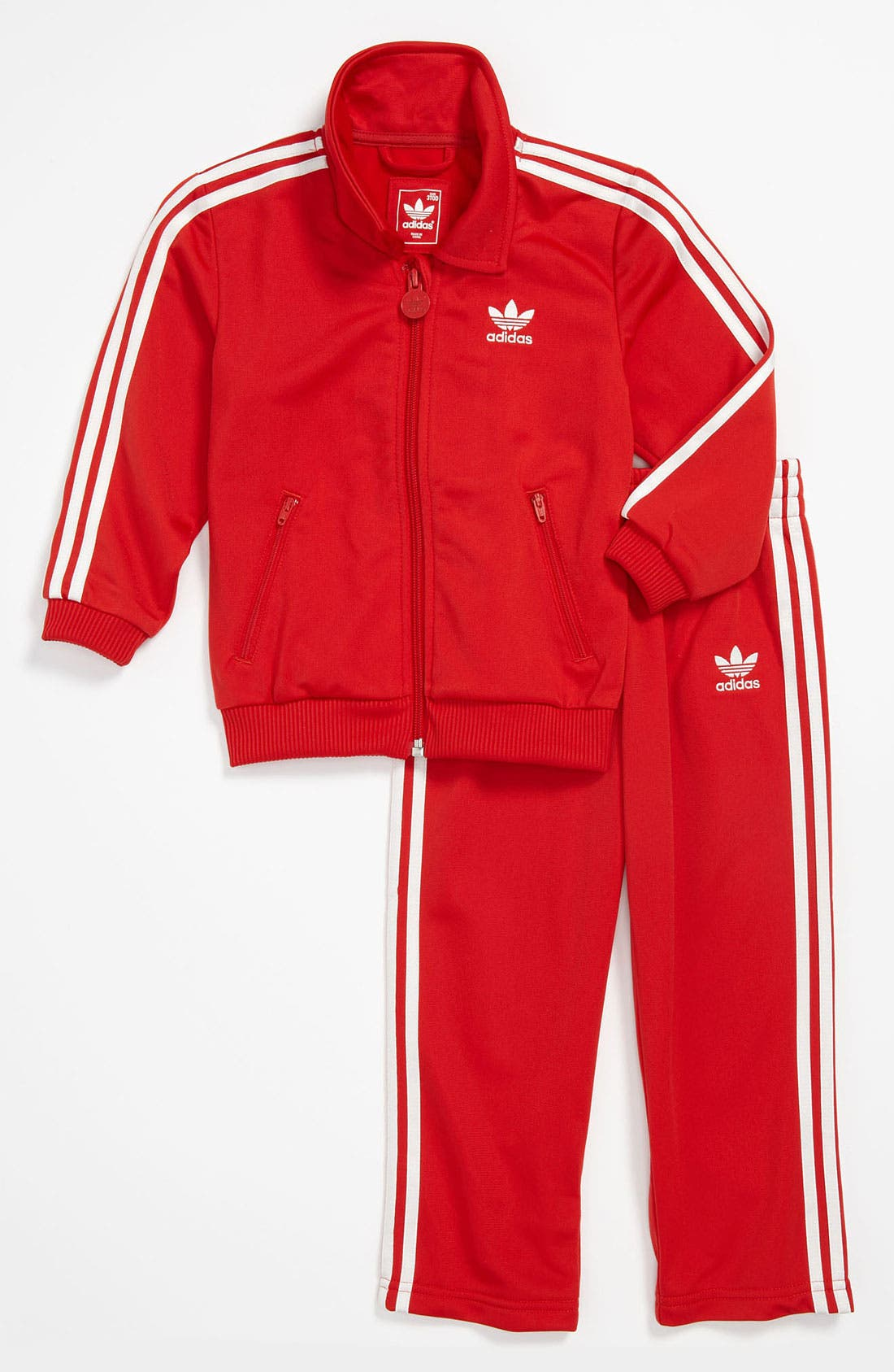 Alternate Image 1 Selected - adidas 'Firebird' Jacket & Pants (Infant)