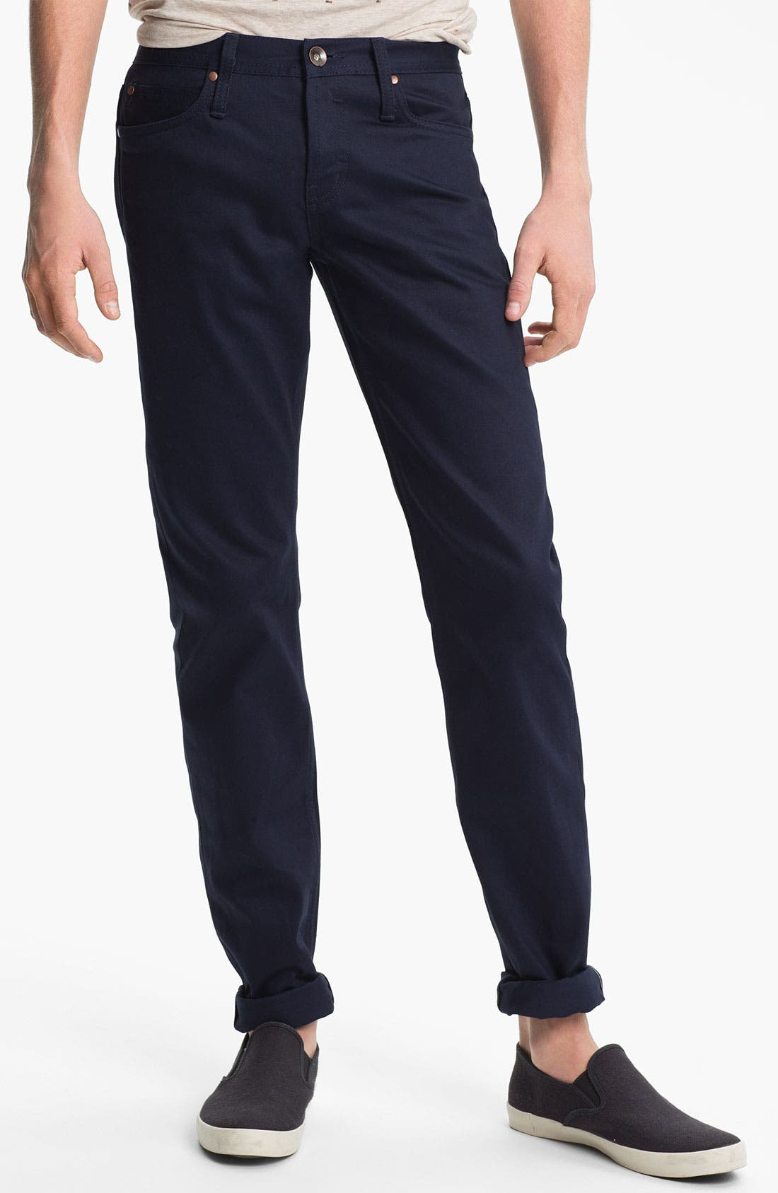 Alternate Image 2  - The Unbranded Brand 'UB108' Skinny Fit Selvedge Chinos (Online Exclusive)
