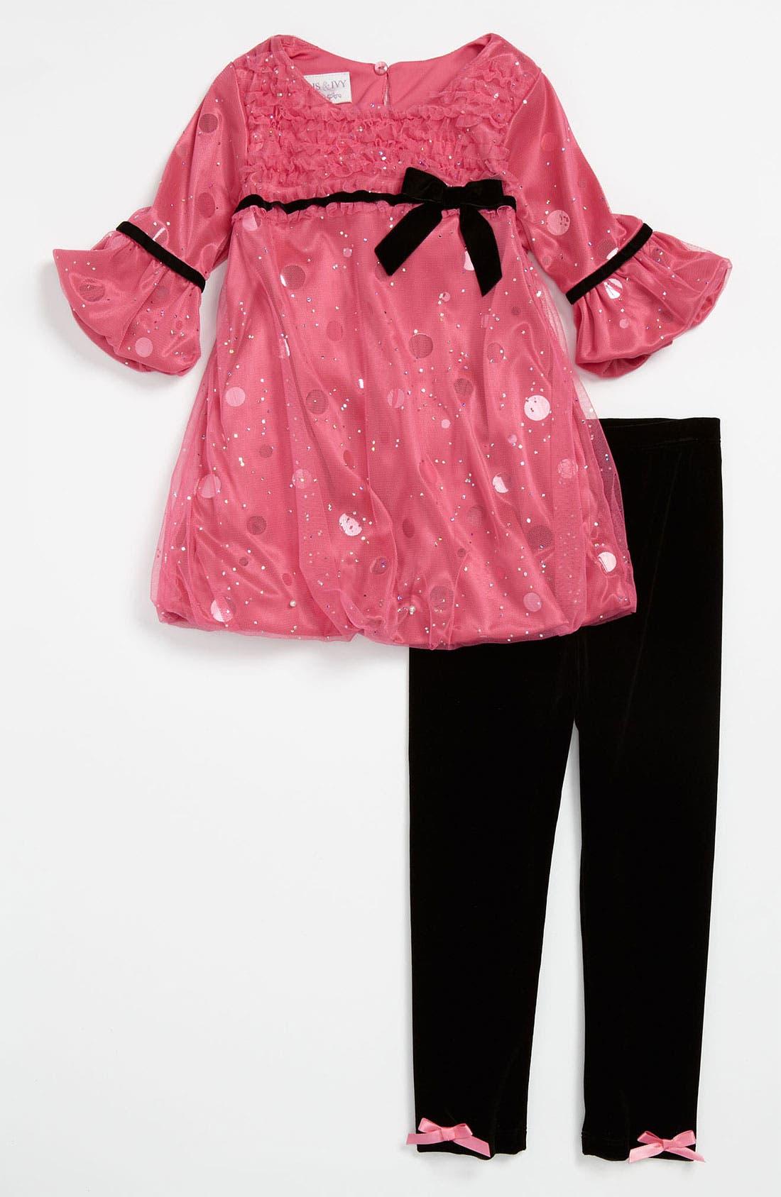 Alternate Image 1 Selected - Iris & Ivy Dress & Leggings (Infant)