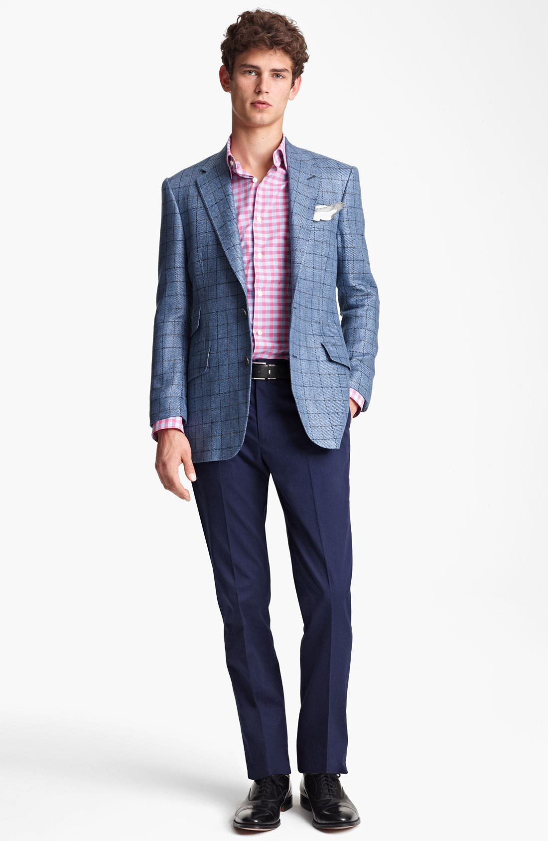 Alternate Image 4  - Paul Smith London Linen Cotton Plaid Sportcoat