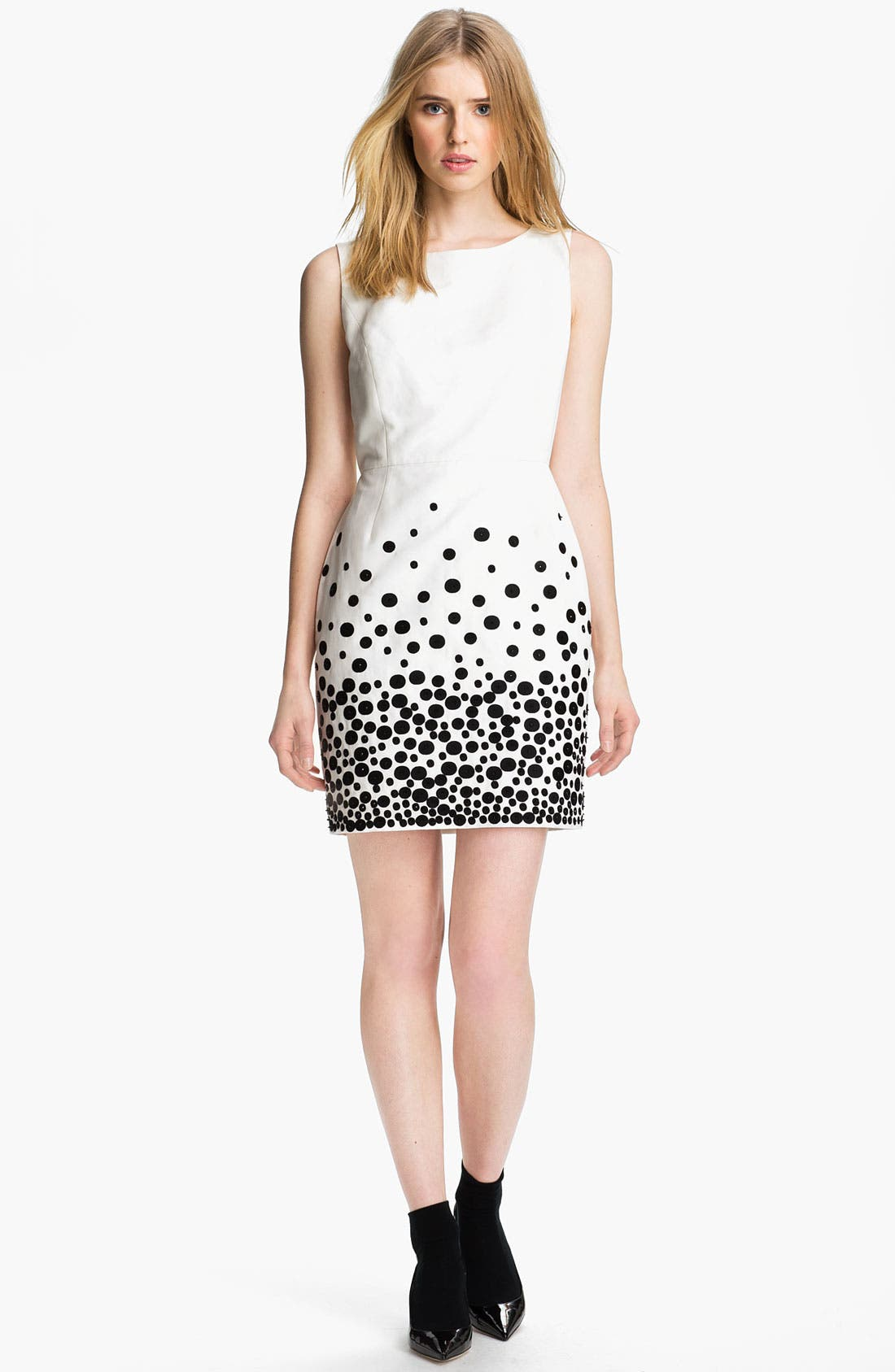 Alternate Image 3  - Miss Wu Embroidered Faille Dress (Nordstrom Exclusive)