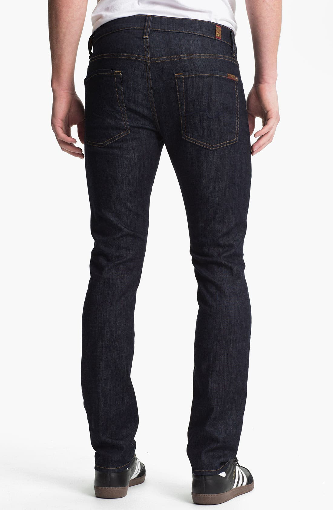 Alternate Image 2  - 7 For All Mankind® 'Paxtyn' Skinny Fit Jeans (Dark & Clean)