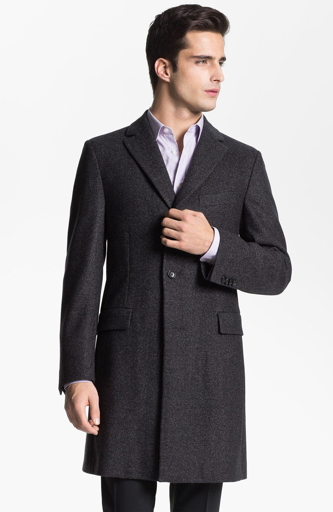 Alternate Image 1 Selected - Z Zegna 'Vintage Granite' Wool Top Coat
