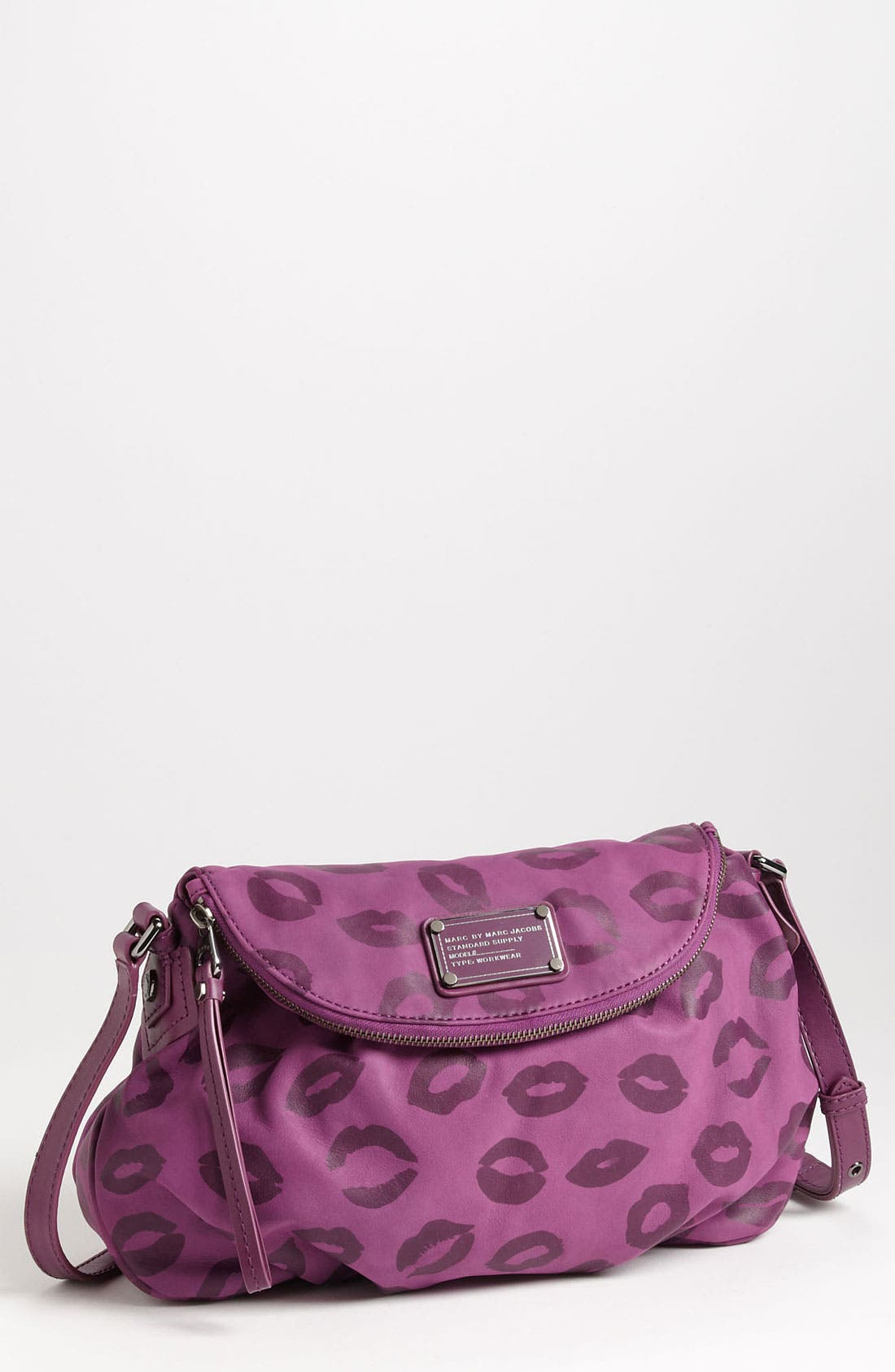 Main Image - MARC BY MARC JACOBS 'Classic Q Natasha - Smack' Leather Crossbody Bag
