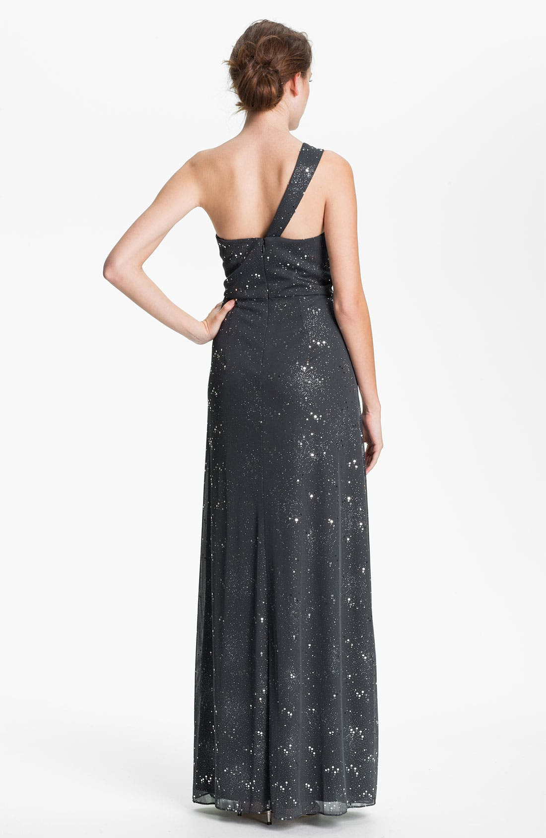 Alternate Image 2  - Cachet One Shoulder Pleated & Embellished Gown