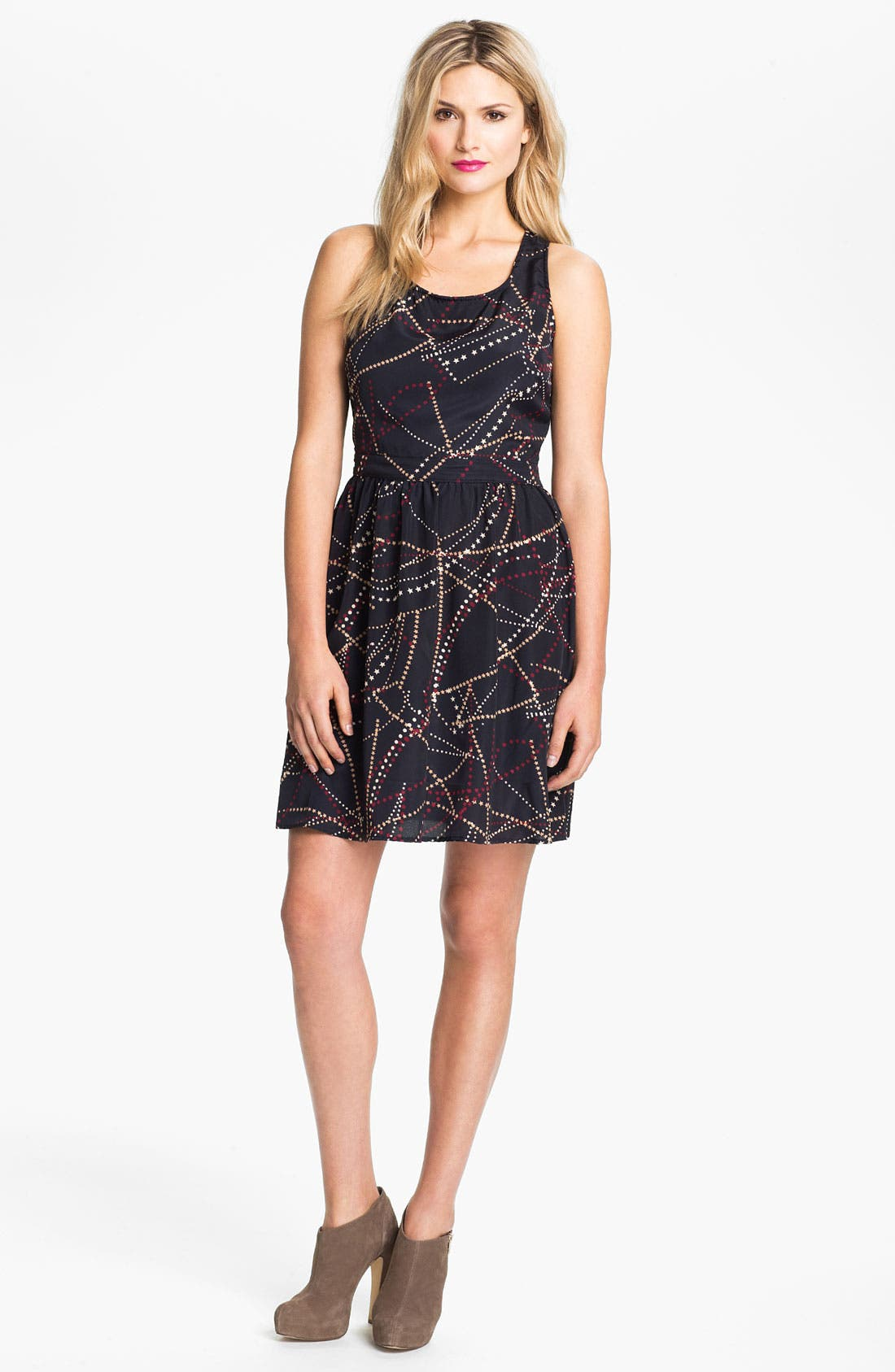 Main Image - Max & Mia Banded Back Print Dress (Online Exclusive)