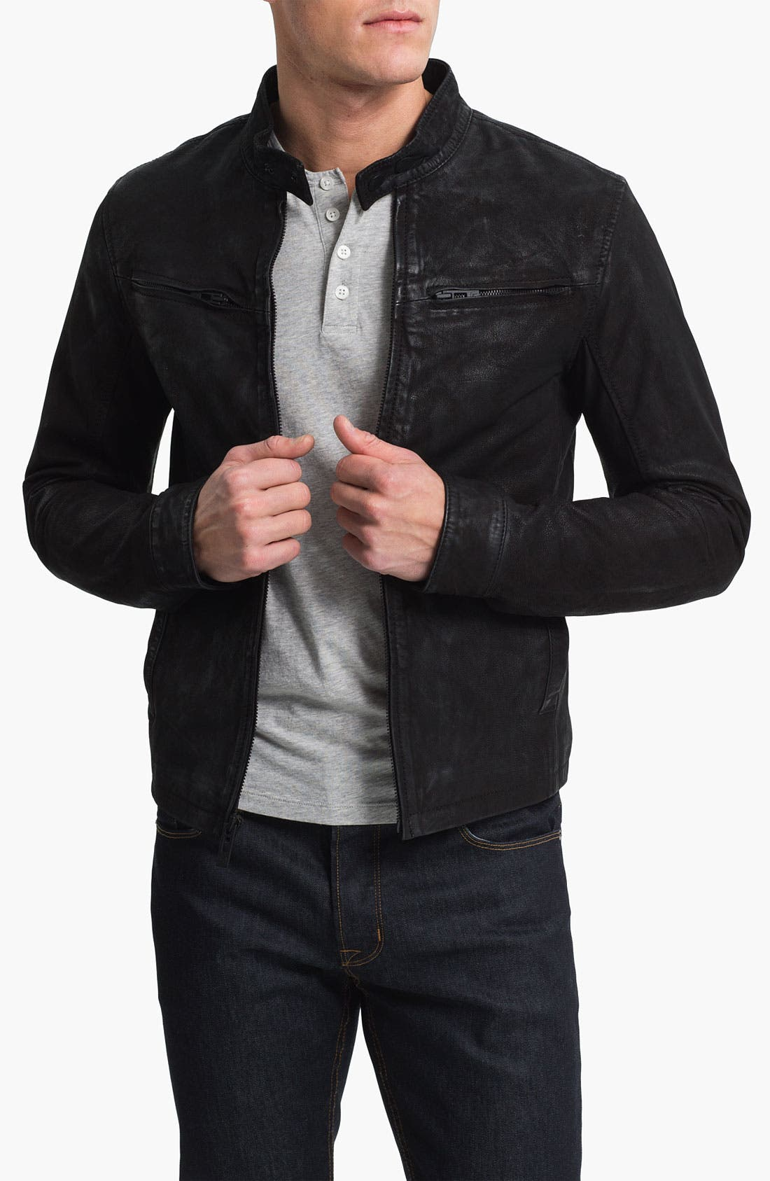 Main Image - Rogue Leather Moto Jacket