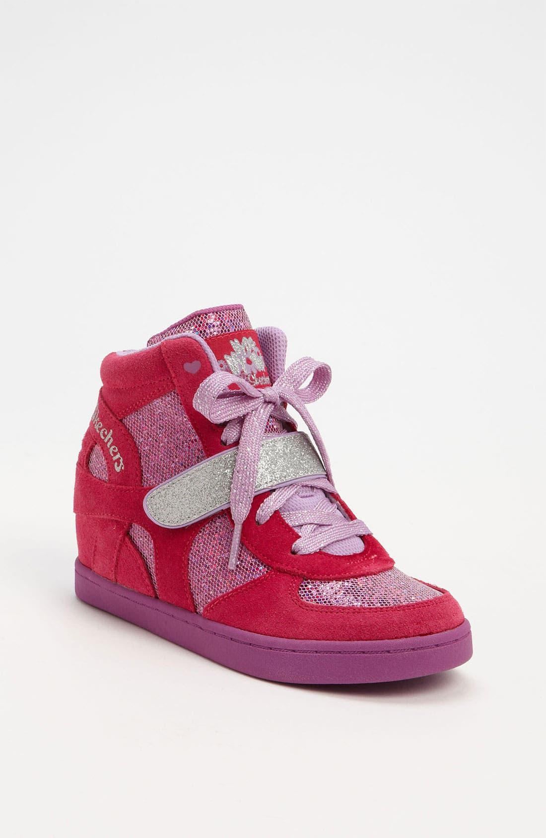 Alternate Image 1 Selected - SKECHERS 'Plus 2' Wedge Sneaker (Little Kid)