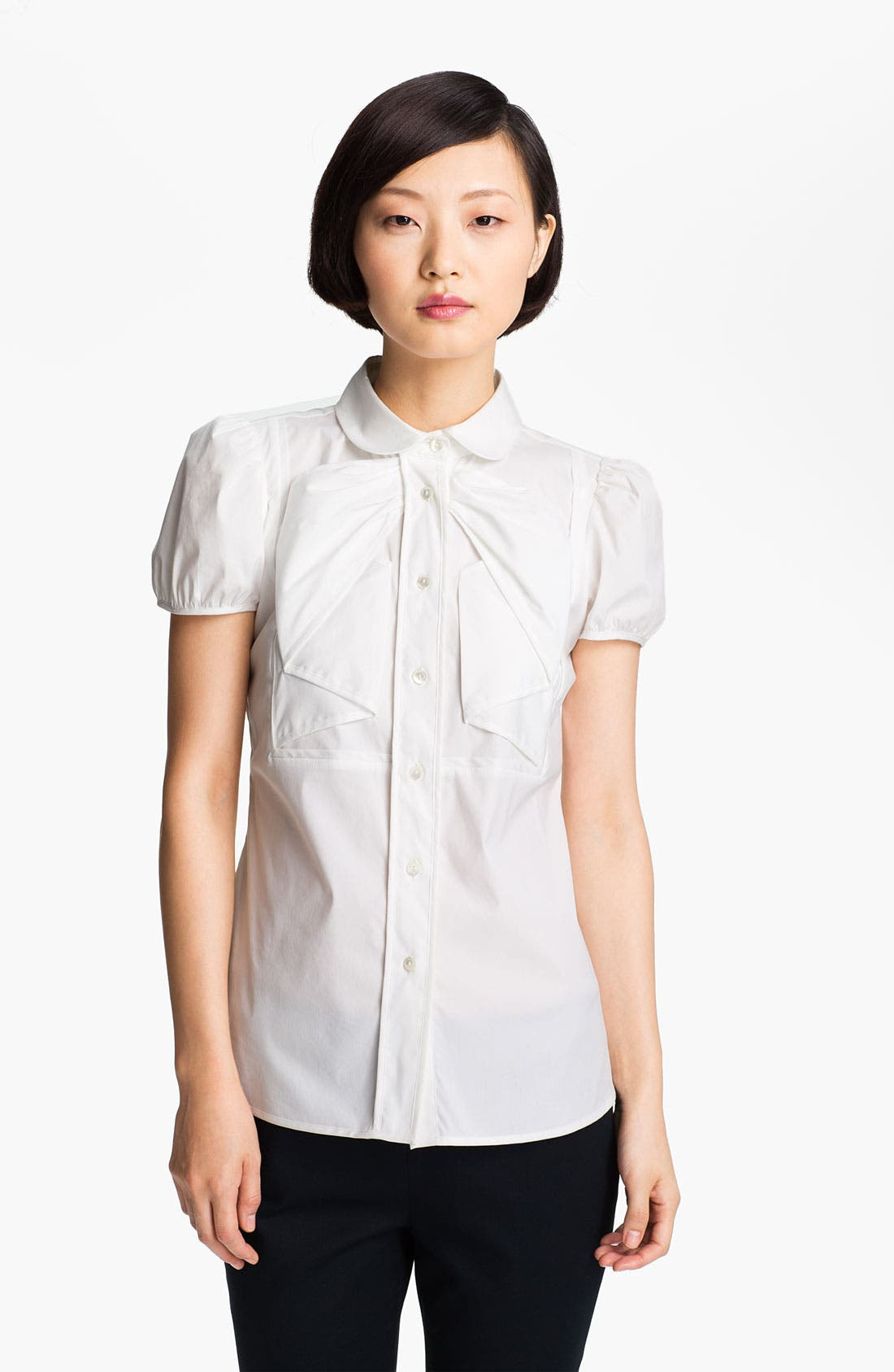 Alternate Image 3  - RED Valentino Stretch Poplin Blouse