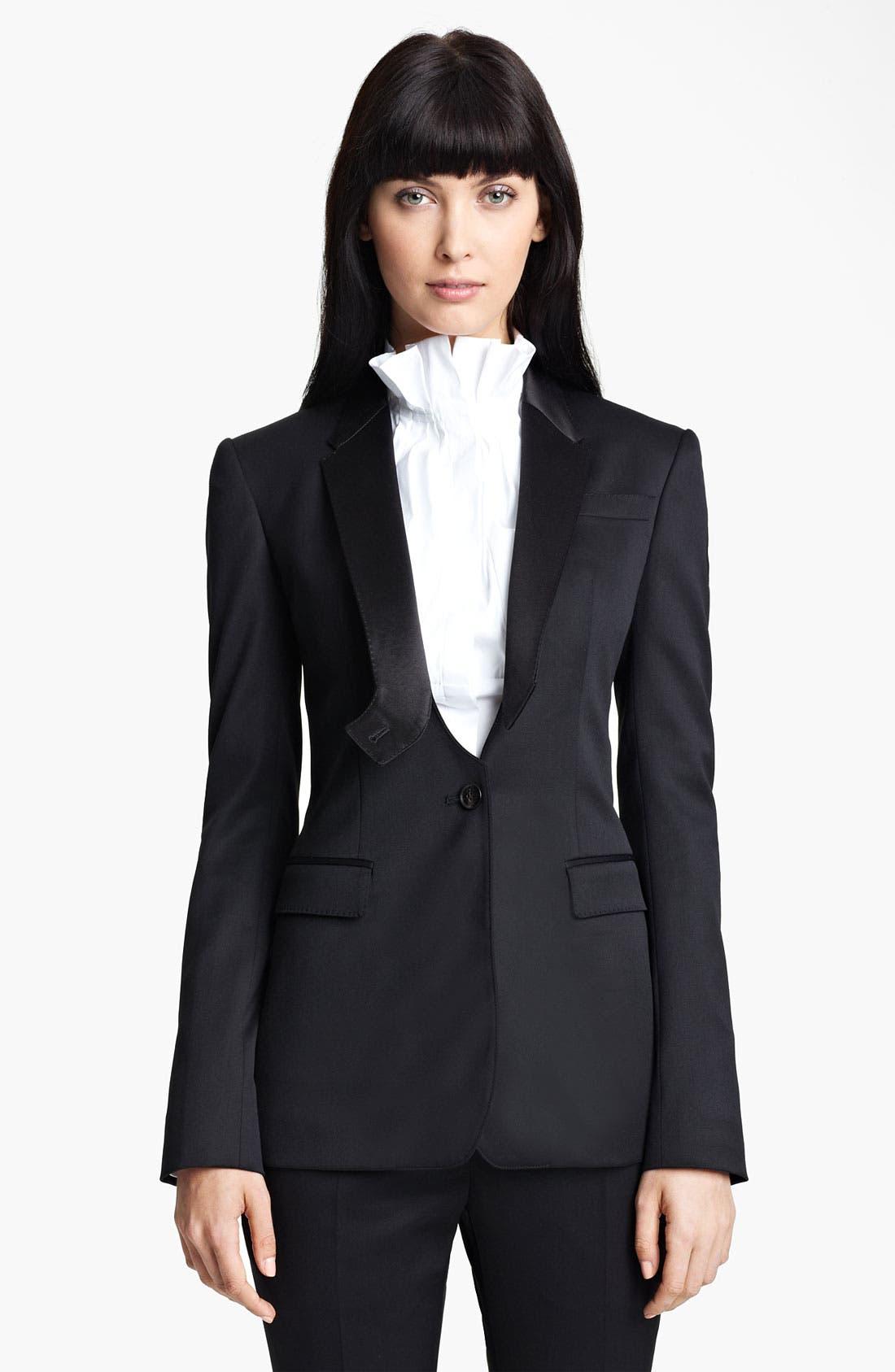 Alternate Image 1 Selected - Burberry Prorsum Stretch Wool Tuxedo Jacket
