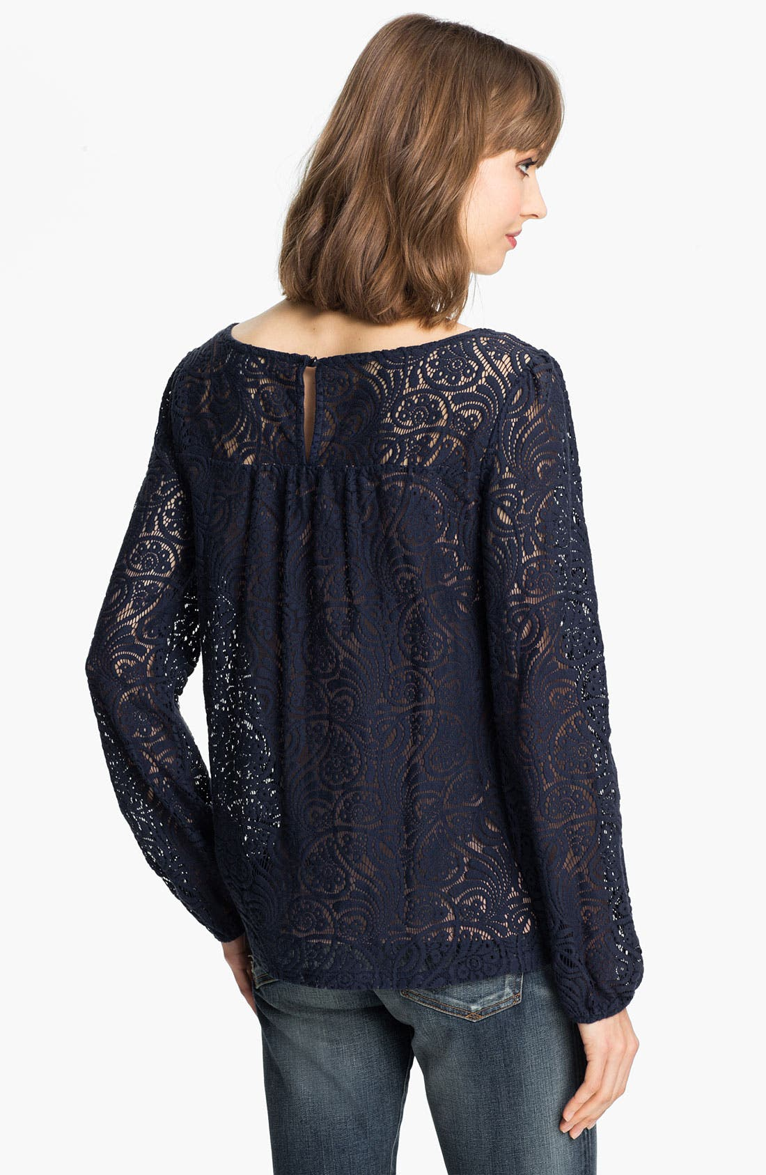 Alternate Image 2  - Ella Moss 'Hannah' Lace Blouse