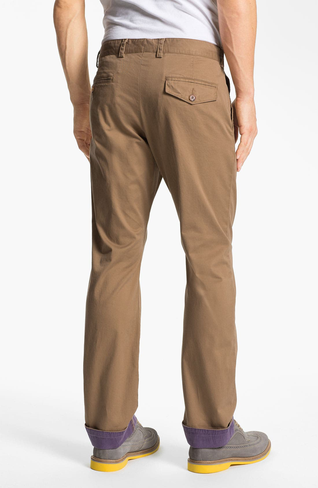 Alternate Image 2  - French Connection Flat Front Chinos
