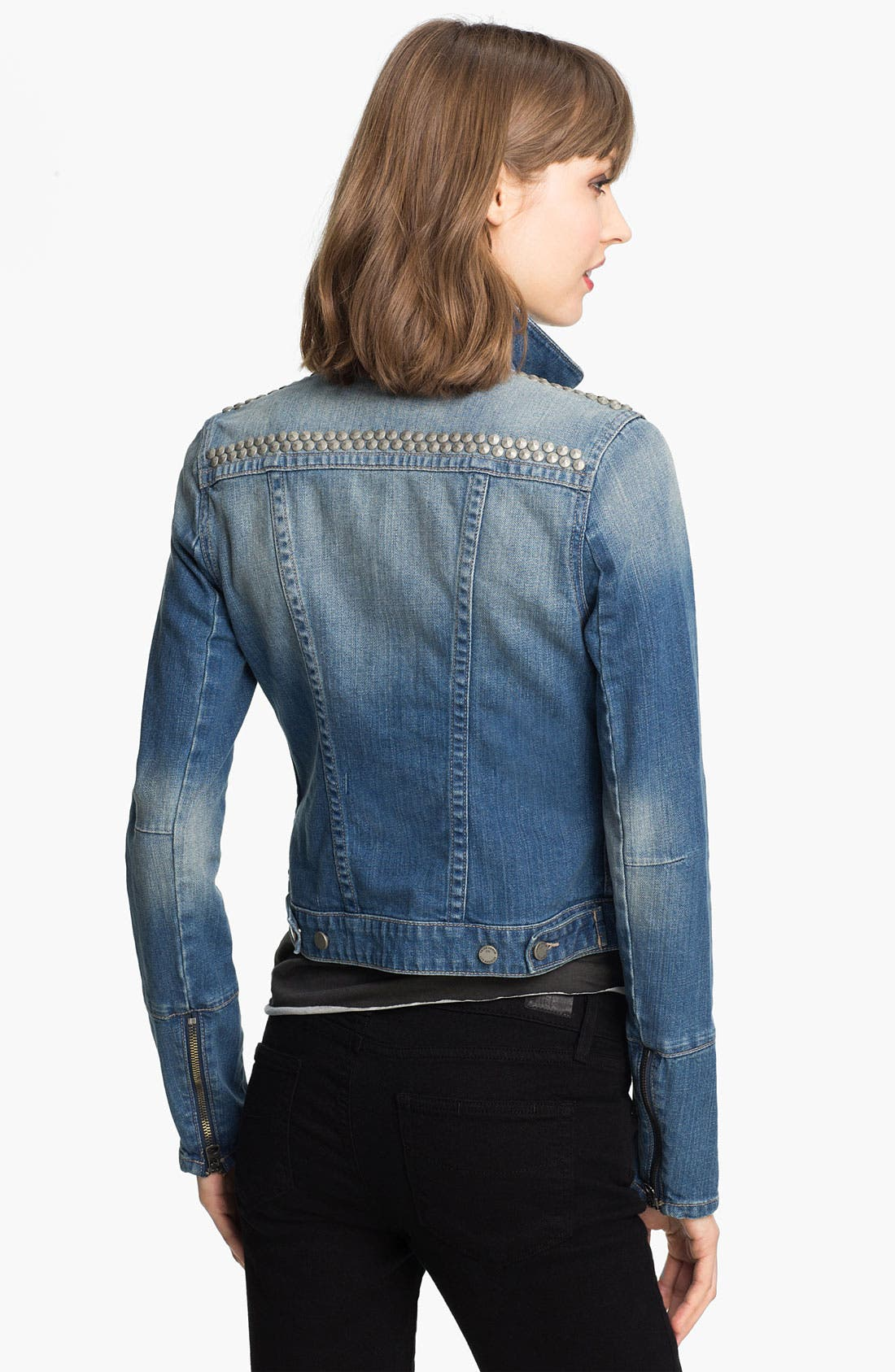 Alternate Image 2  - Paige Denim 'Colbie' Studded Denim Jacket