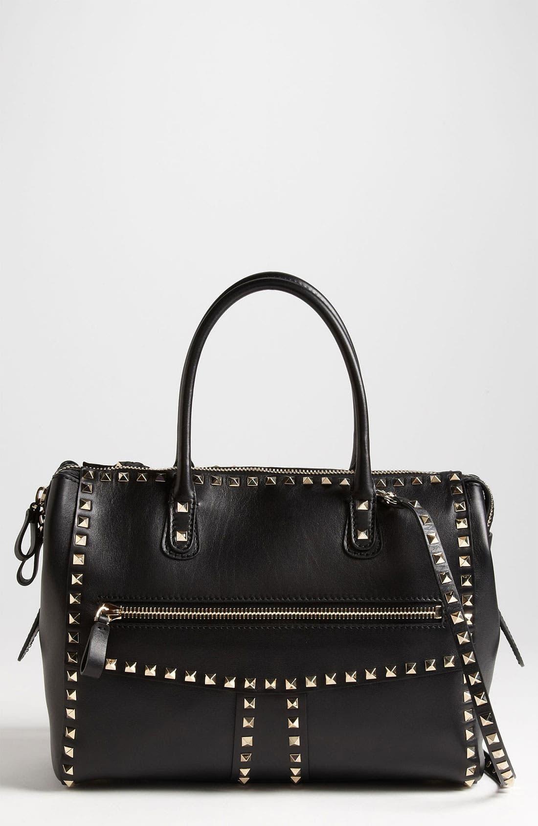 Main Image - Valentino 'Rockstud - Small' Leather Handbag