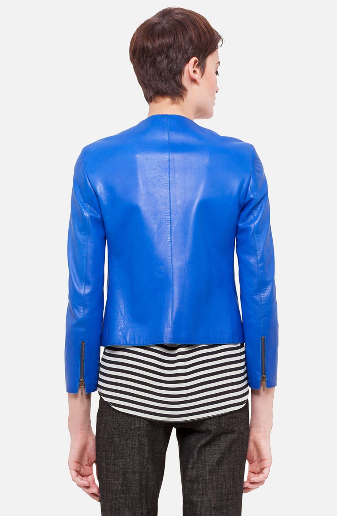 Alternate Image 2  - Akris punto Nappa Leather Jacket