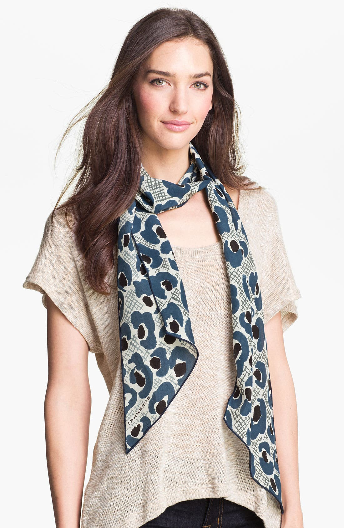 Main Image - Burberry Prorsum 'Animal Floral' Silk Scarf