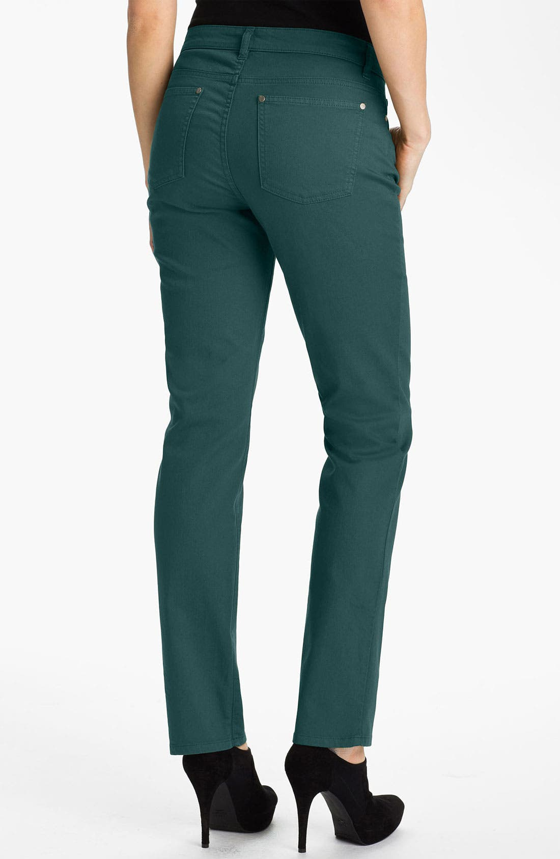 Alternate Image 2  - Eileen Fisher Colored Denim Jeans