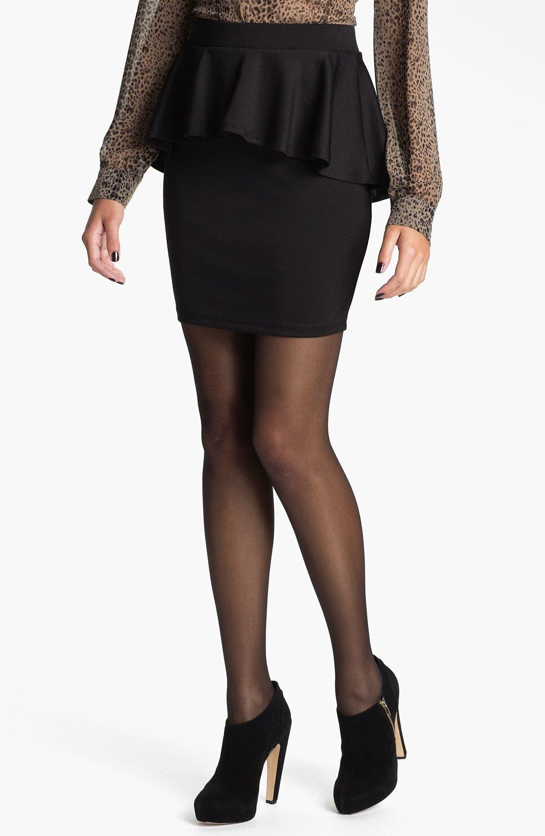 Main Image - h.i.p. Peplum Skirt (Juniors)