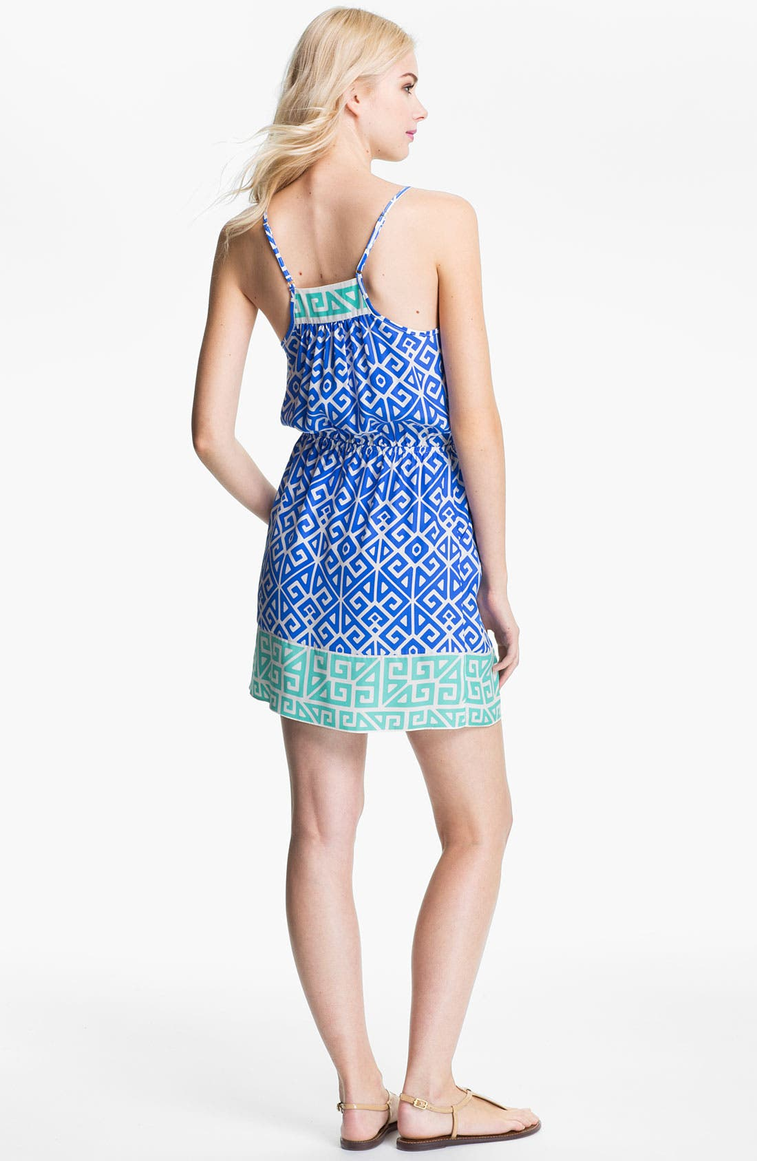 Alternate Image 2  - ALICE & TRIXIE 'Jun' Printed Silk Blouson Dress