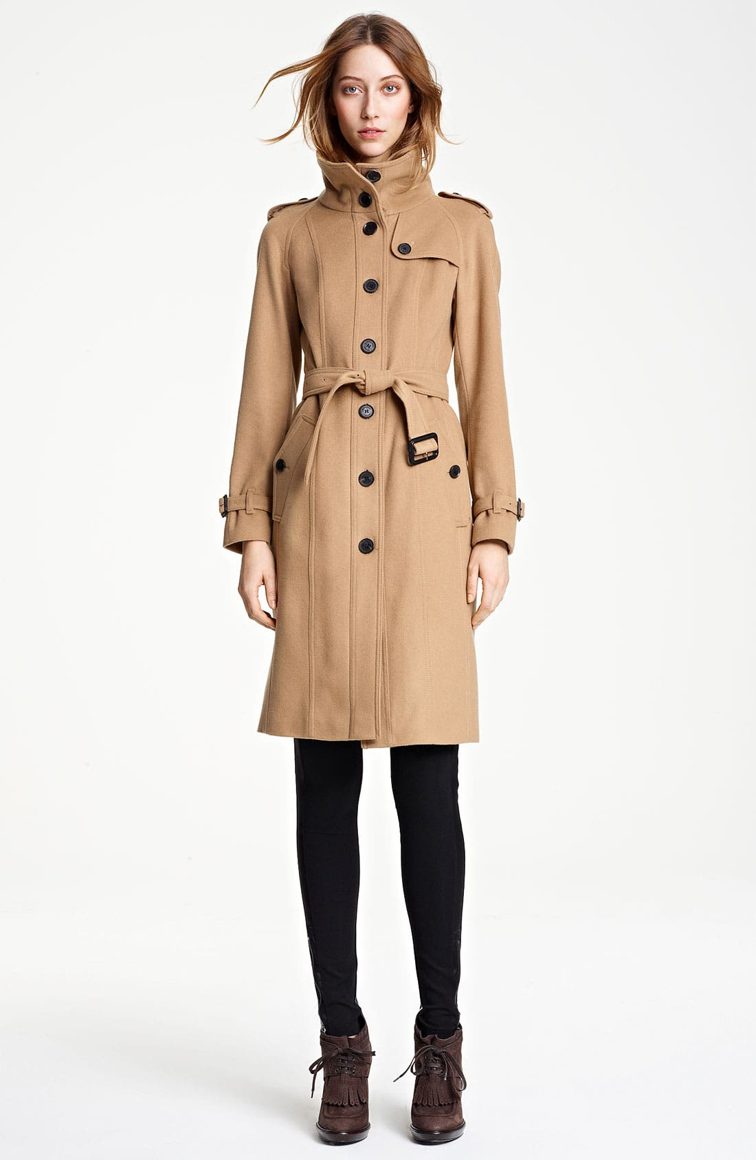 Main Image - Burberry London Belted Wool & Cashmere Coat