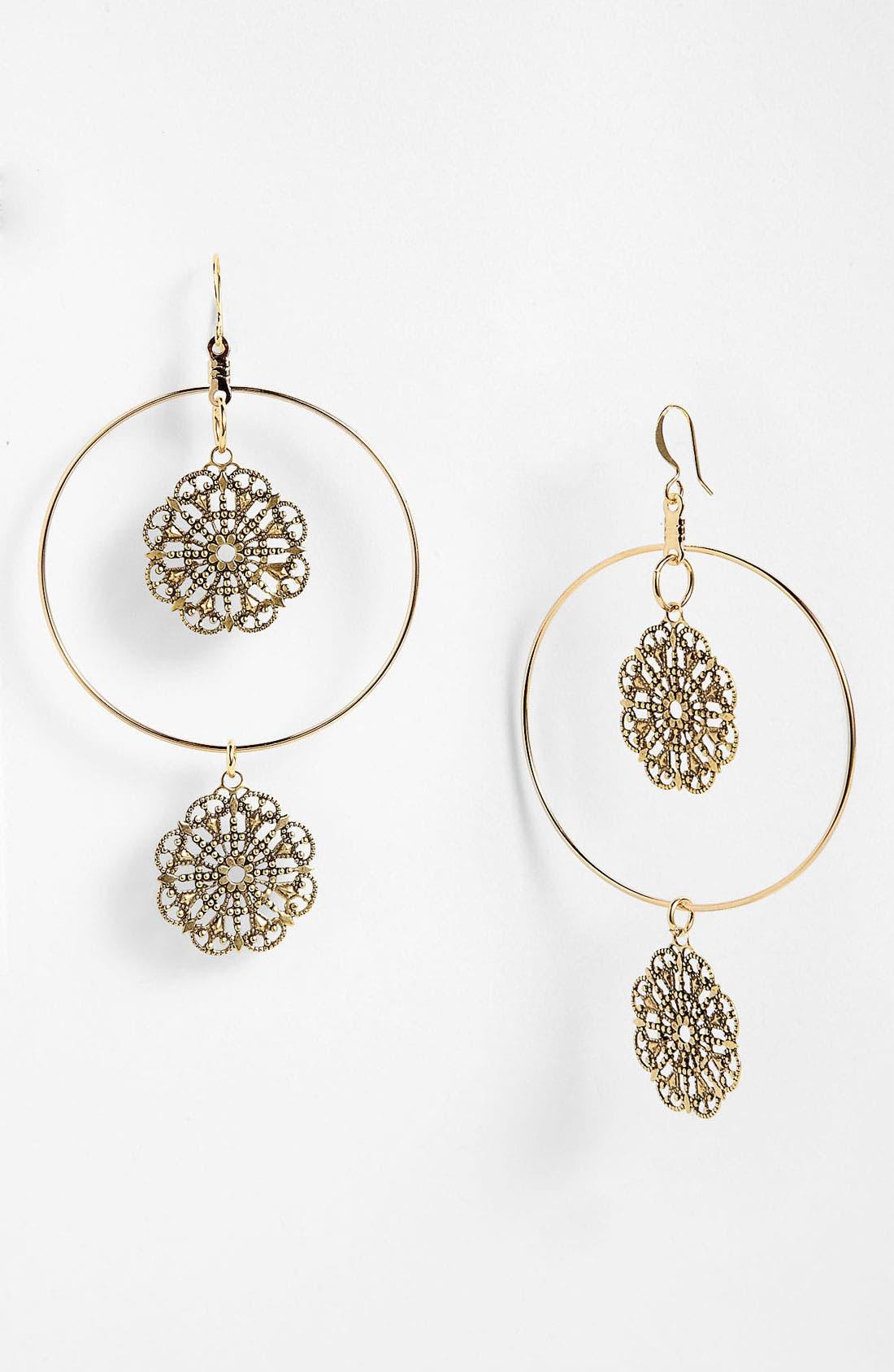 Alternate Image 1 Selected - Verdier Jewelry 'Two Drop Filigree' Hoop Earrings (Nordstrom Exclusive)