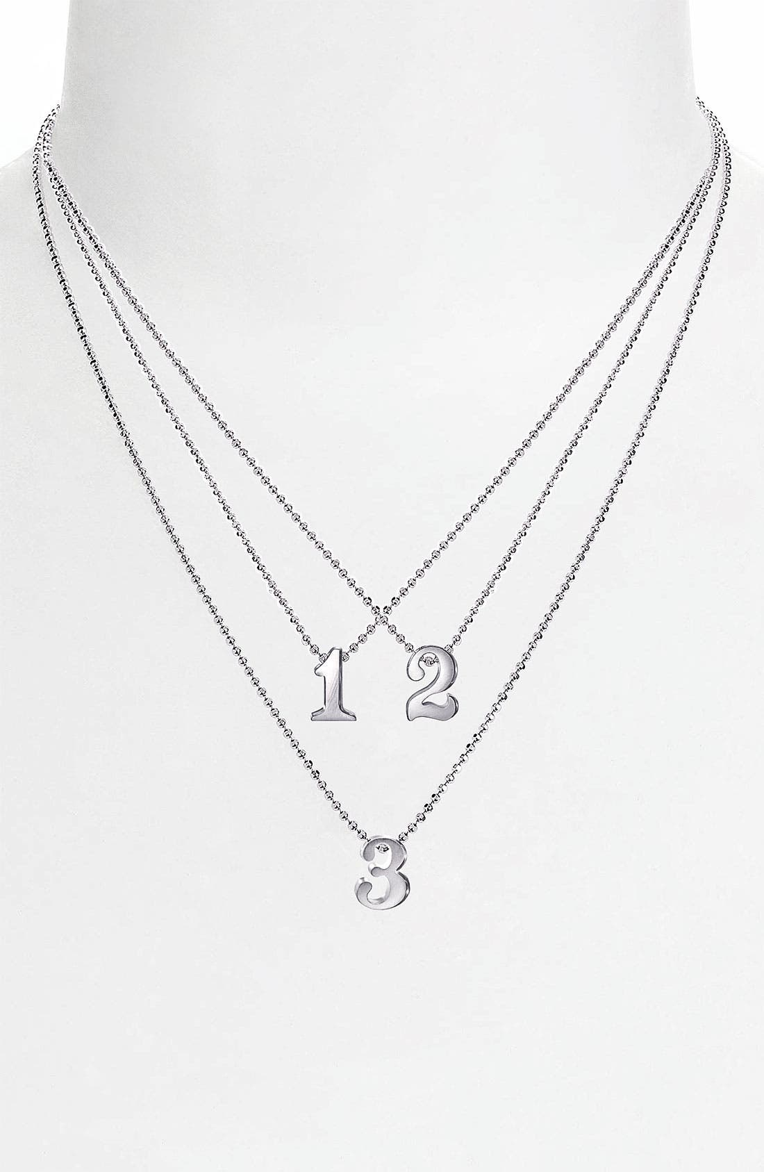 Alternate Image 1 Selected - Alex Woo 'Little Numbers' Pendant Necklace