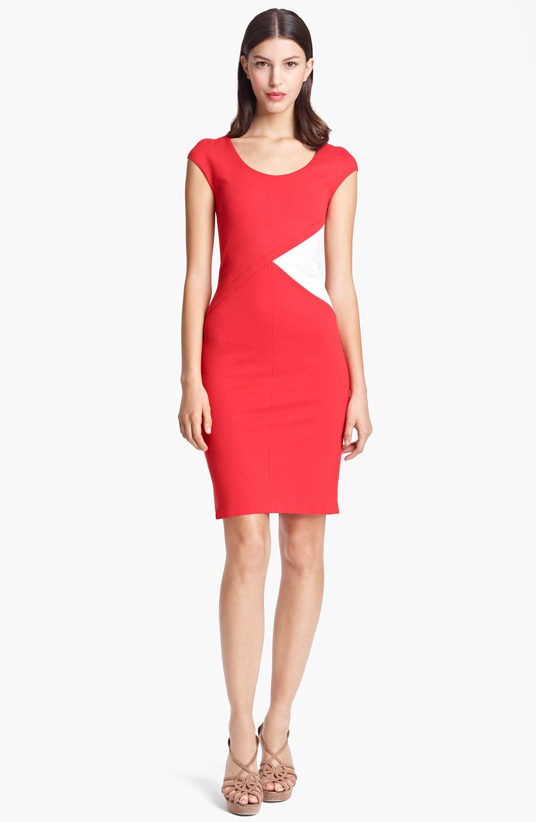 Alternate Image 1 Selected - Armani Collezioni Side Contrast Jersey Dress
