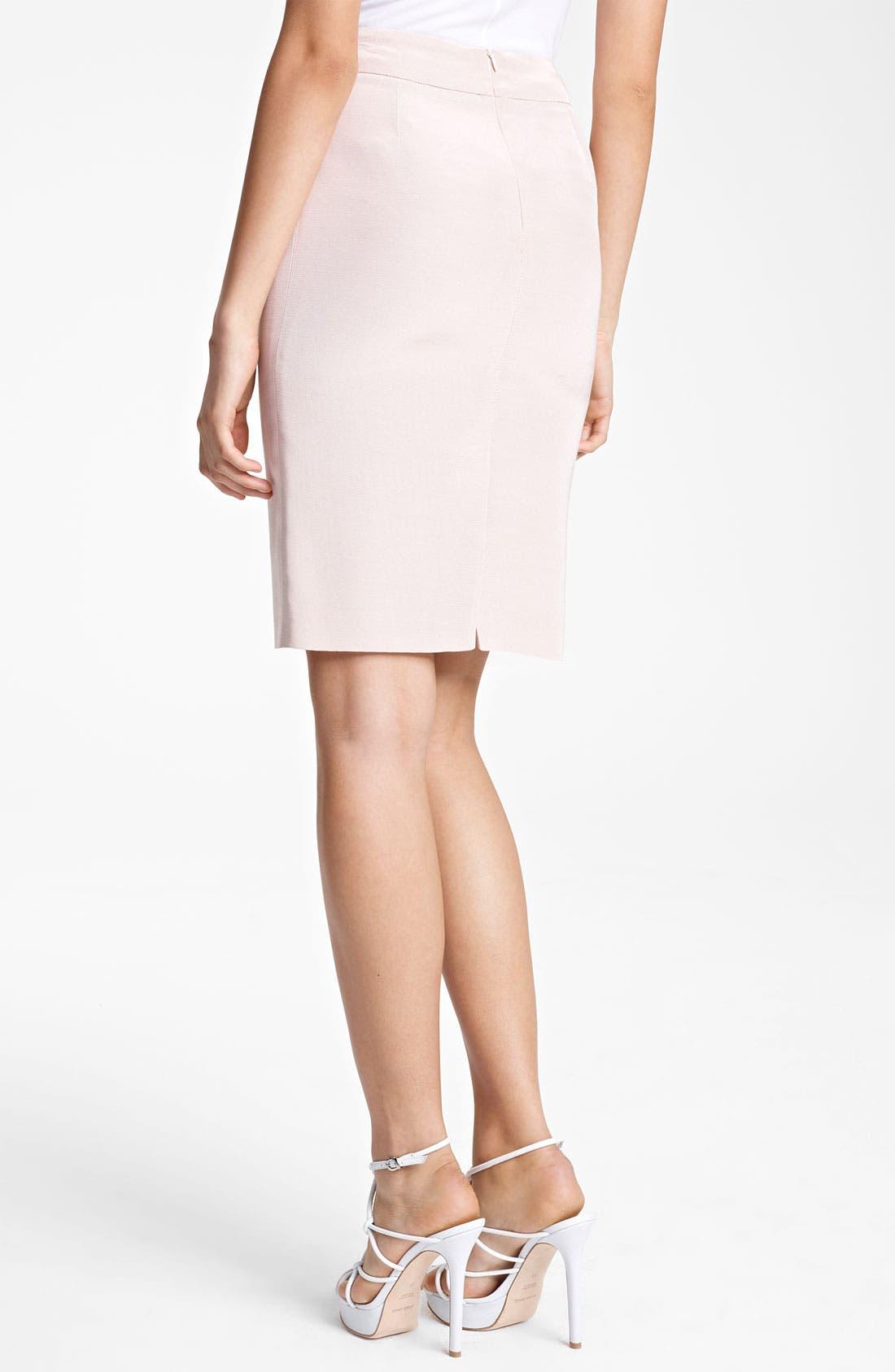 Alternate Image 2  - Armani Collezioni Faille Pencil Skirt