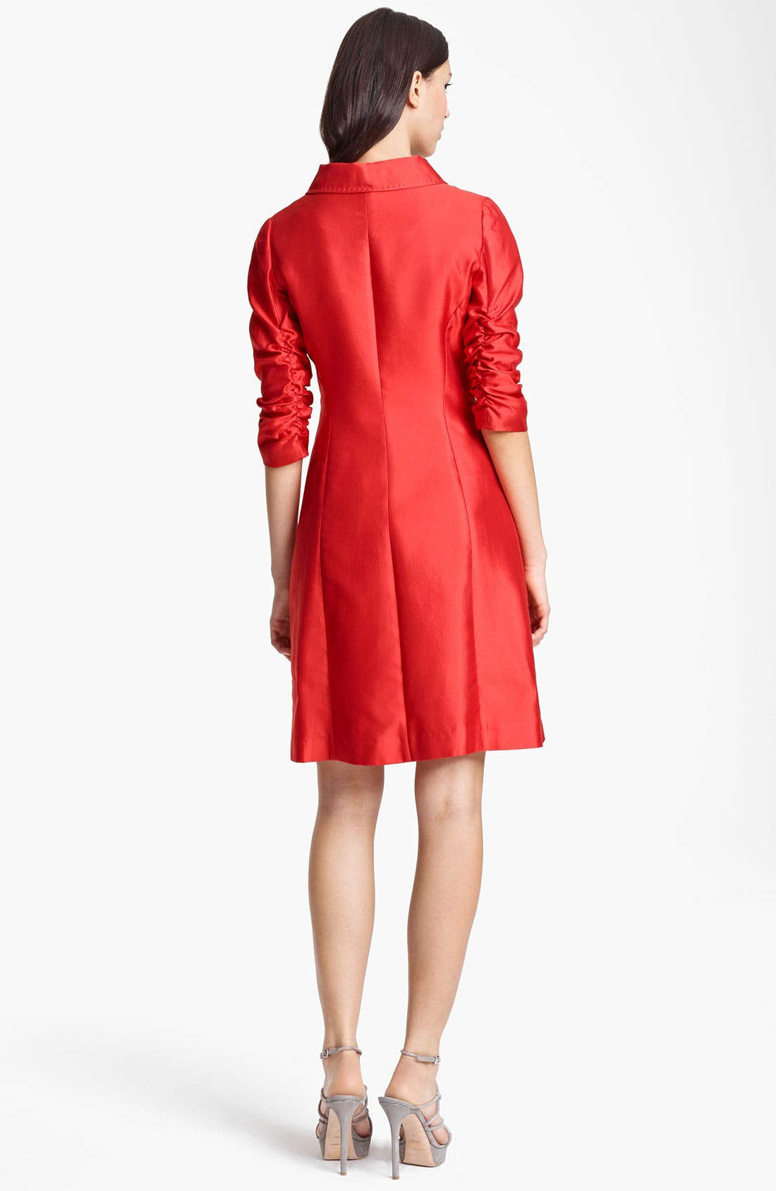 Alternate Image 2  - Armani Collezioni Ruched Sleeve Coat